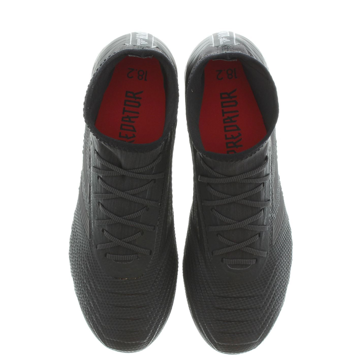 d13def68b3a ... adidas Predator 18.2 FG Firm Ground Football Boots Black Mens Soccer  Shoe Cleats