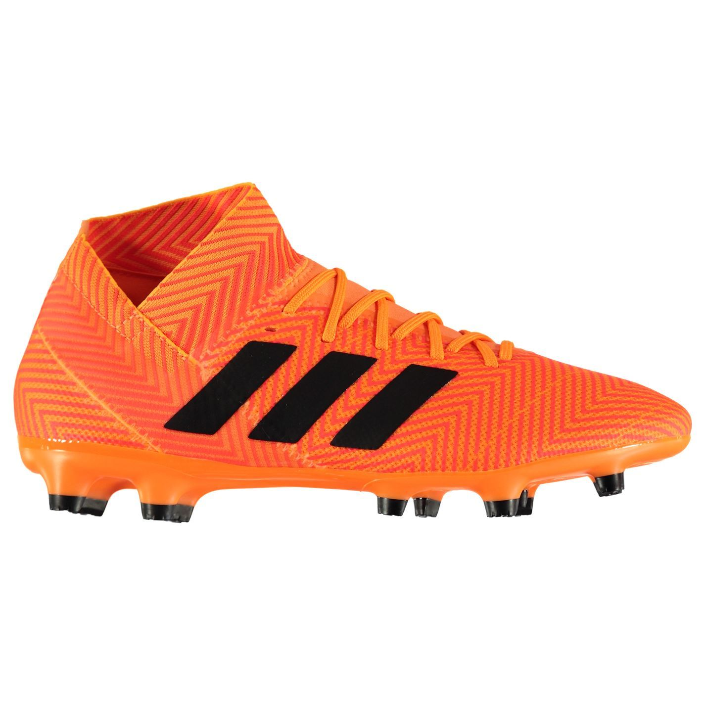 61149b7462 Details about adidas Nemeziz 18.3 Firm Ground Football Boots Mens Orange  Soccer Shoes Cleats