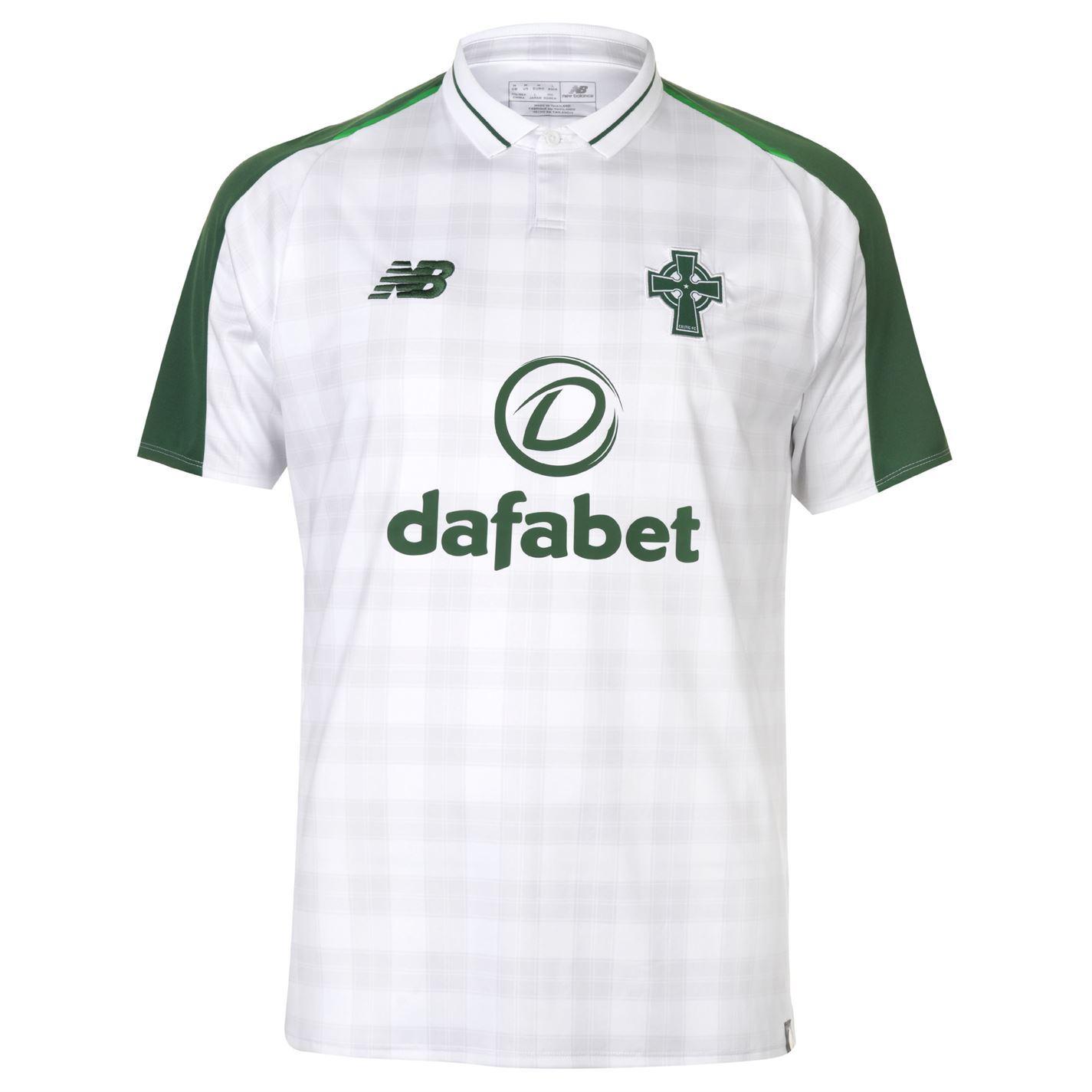 433b772fda9 ... New Balance Celtic Away Jersey 2018 2019 Juniors White Football Soccer  Shirt Top ...
