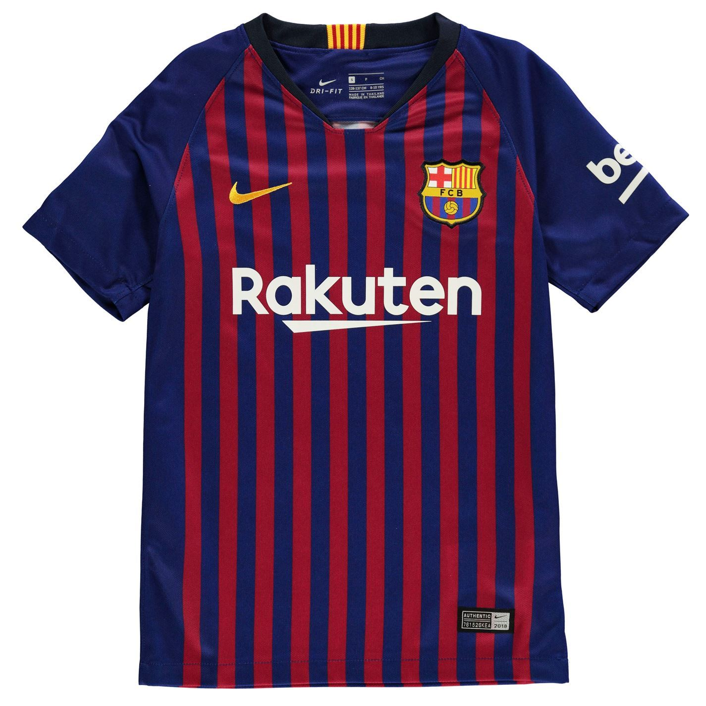 low priced 09ddf c8ebd Details about Nike Barcelona Home Jersey 2018 2019 Juniors Blue/Red  Football Soccer Shirt Top