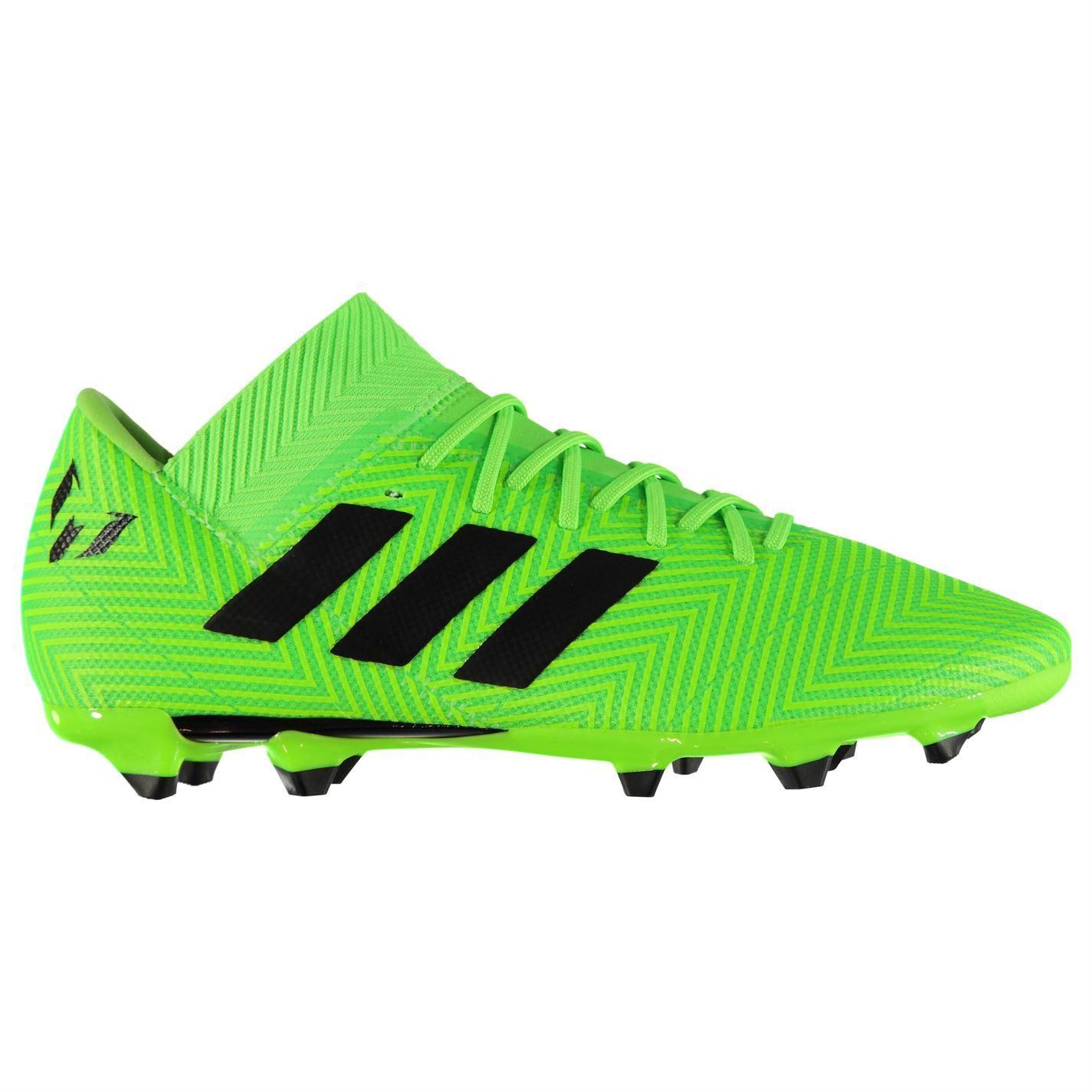 ... adidas Nemeziz Messi 18.3 Firm Ground Football Boots Mens Green Soccer  Cleats ... eb8c03a0fa5d2