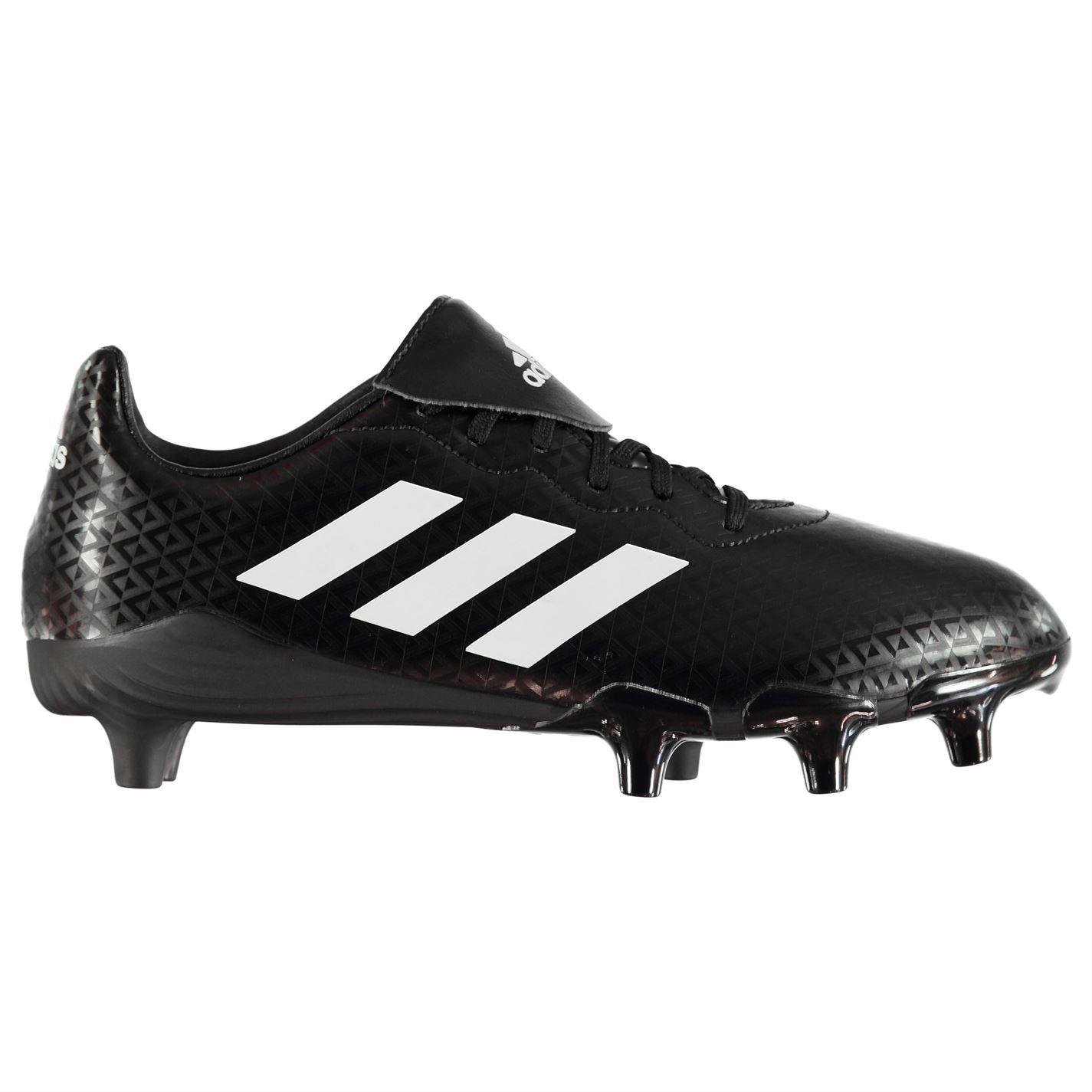 Dettagli su Adidas Rumble Uomo Rugby Union Stivali NeroBianco Scarpe Sportive Calzature