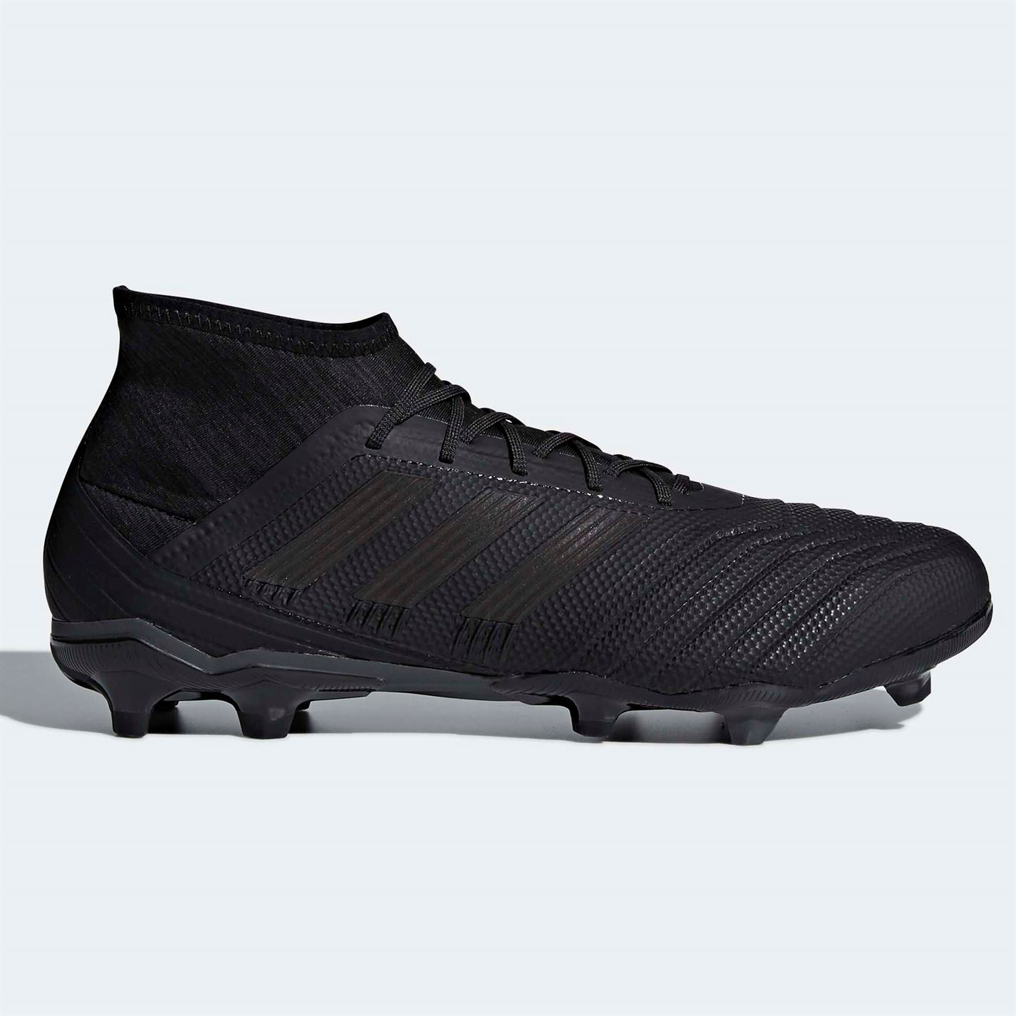 dd35bf9c246 ... adidas Predator 18.2 FG Firm Ground Football Boots Black Mens Soccer  Shoe Cleats ...