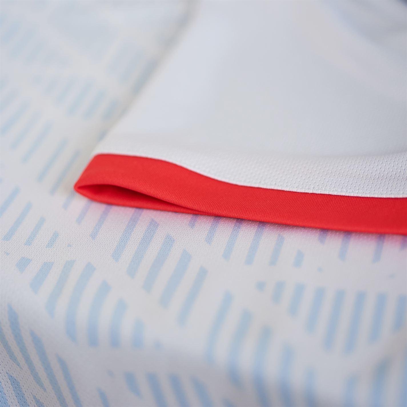 75018a6378e ... adidas Spain Away Jersey 2018 Mens Blue/Red Football Soccer Top Shirt  Strip