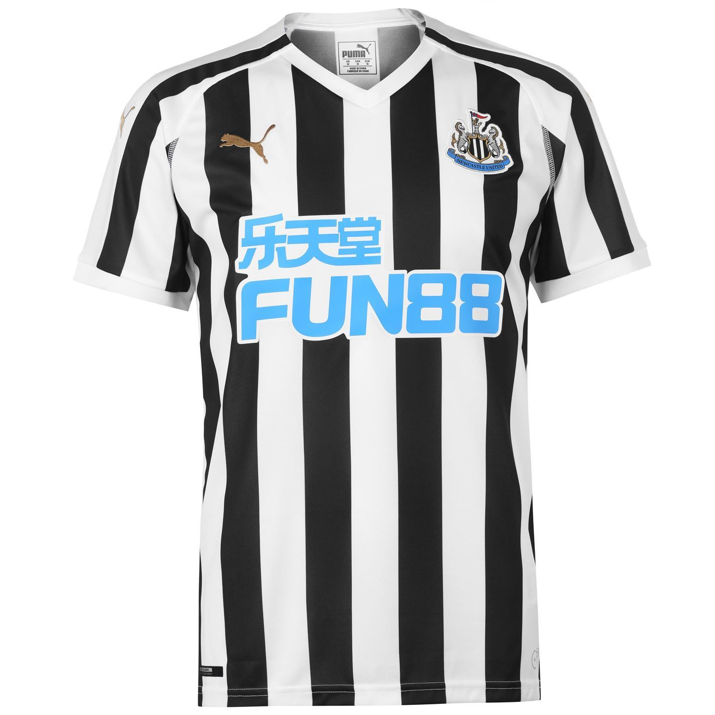 Details about Puma Newcastle United Home Jersey 2018-19 Mens Black White  Football Soccer Shirt df9730c3a32c8