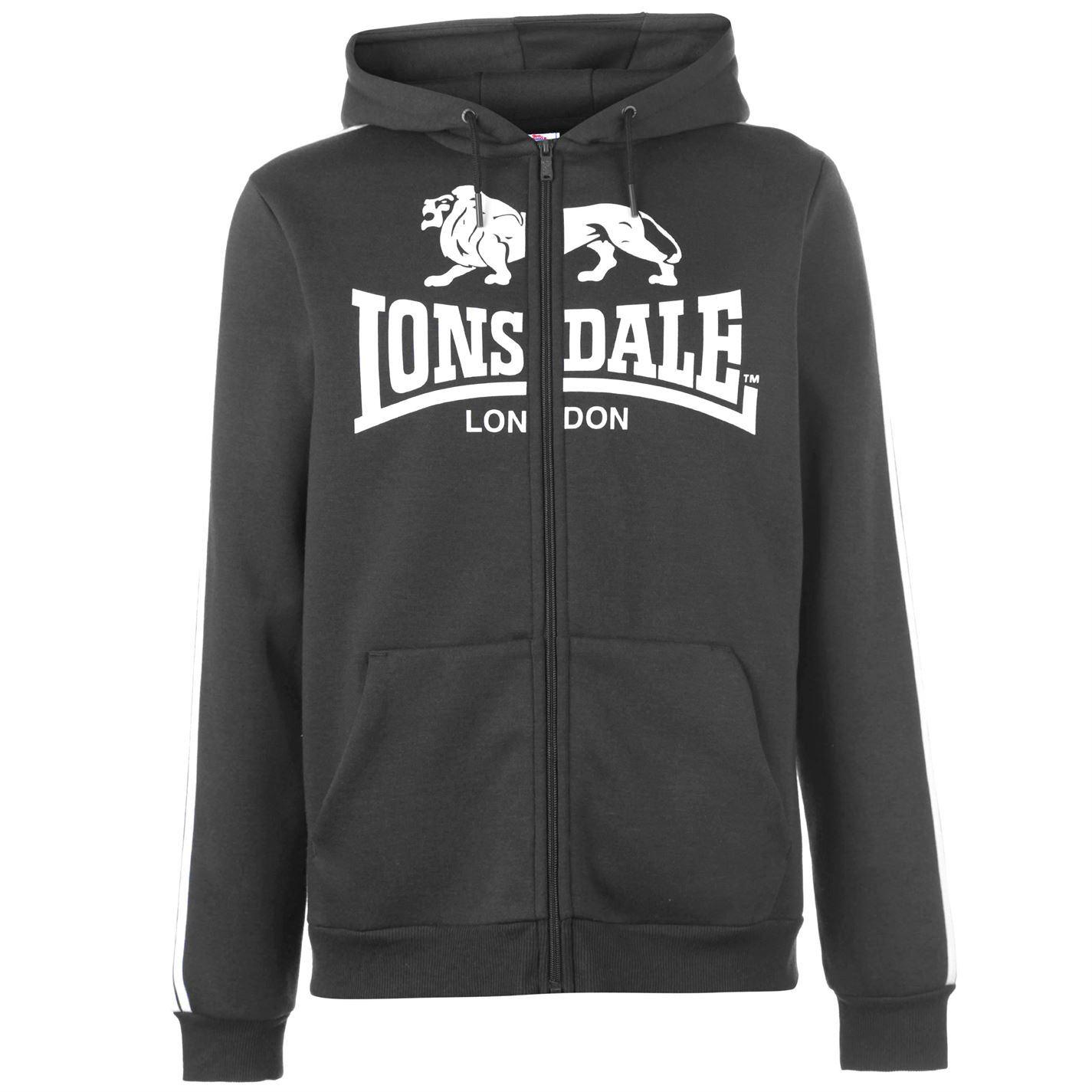 Lonsdale-2-Stripe-Logo-Full-Zip-Hoody-Mens-Hoodie-Top-Sweatshirt-Sweater thumbnail 19