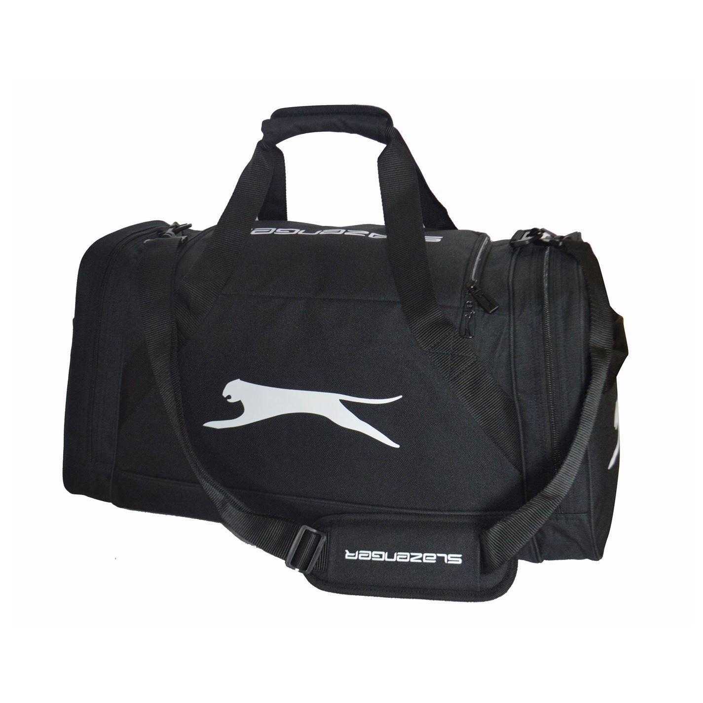 5acde8f4c0 ... Slazenger Medium Sports Holdall Black Gym Kit Bag Carryall