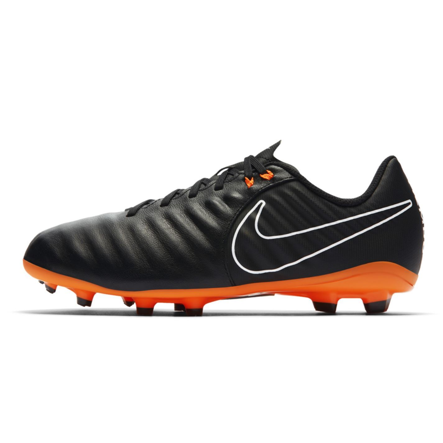 4aed13352aacf Nike Tiempo Legend Academy FG Football Boots Childs Black Soccer Shoes  Cleats
