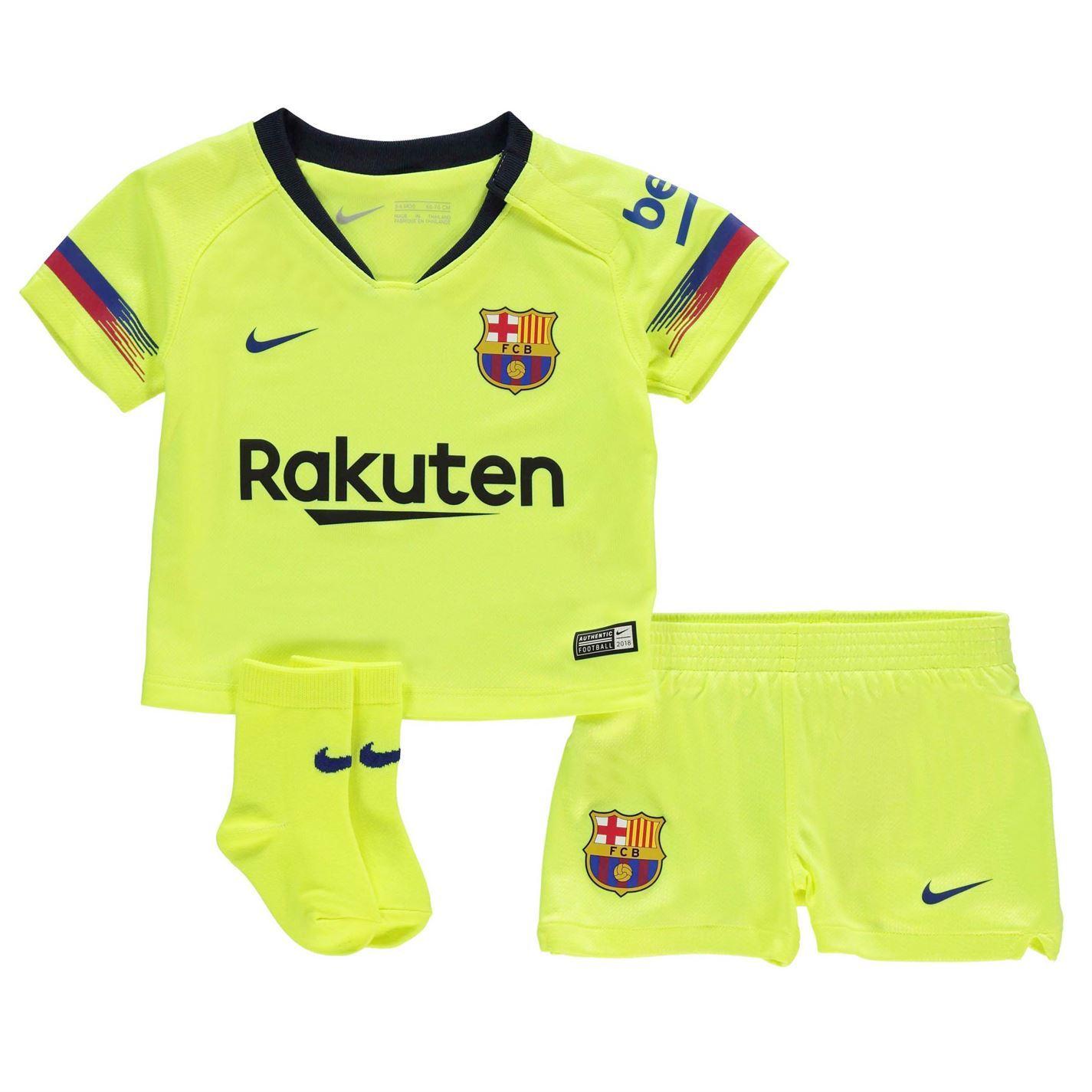 ... Nike Barcelona Away Baby Kit 2018 19 Infants Yellow Football Soccer  Strip ... 433e8906d6e