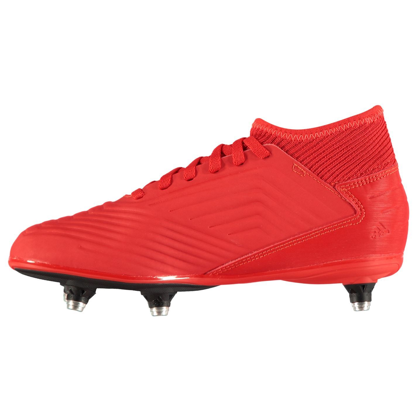 a6ccf93cce4 Details about adidas Predator 19.3 SG Soft Ground Football Boots Childs Red Soccer  Cleats
