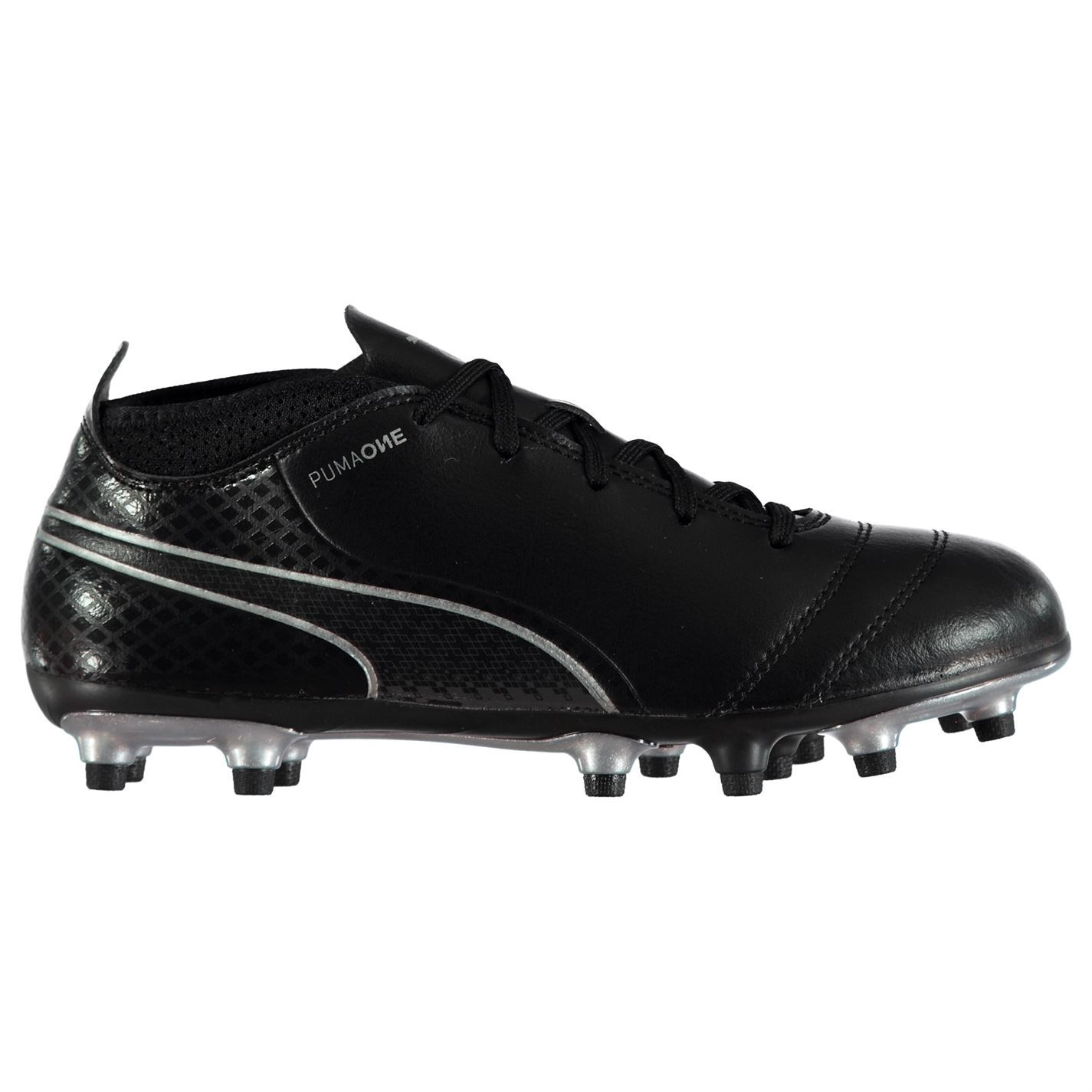 544b4acf Details about Puma One 17.4 FG Firm Ground Football Boots Juniors Black  Soccer Shoes Cleats