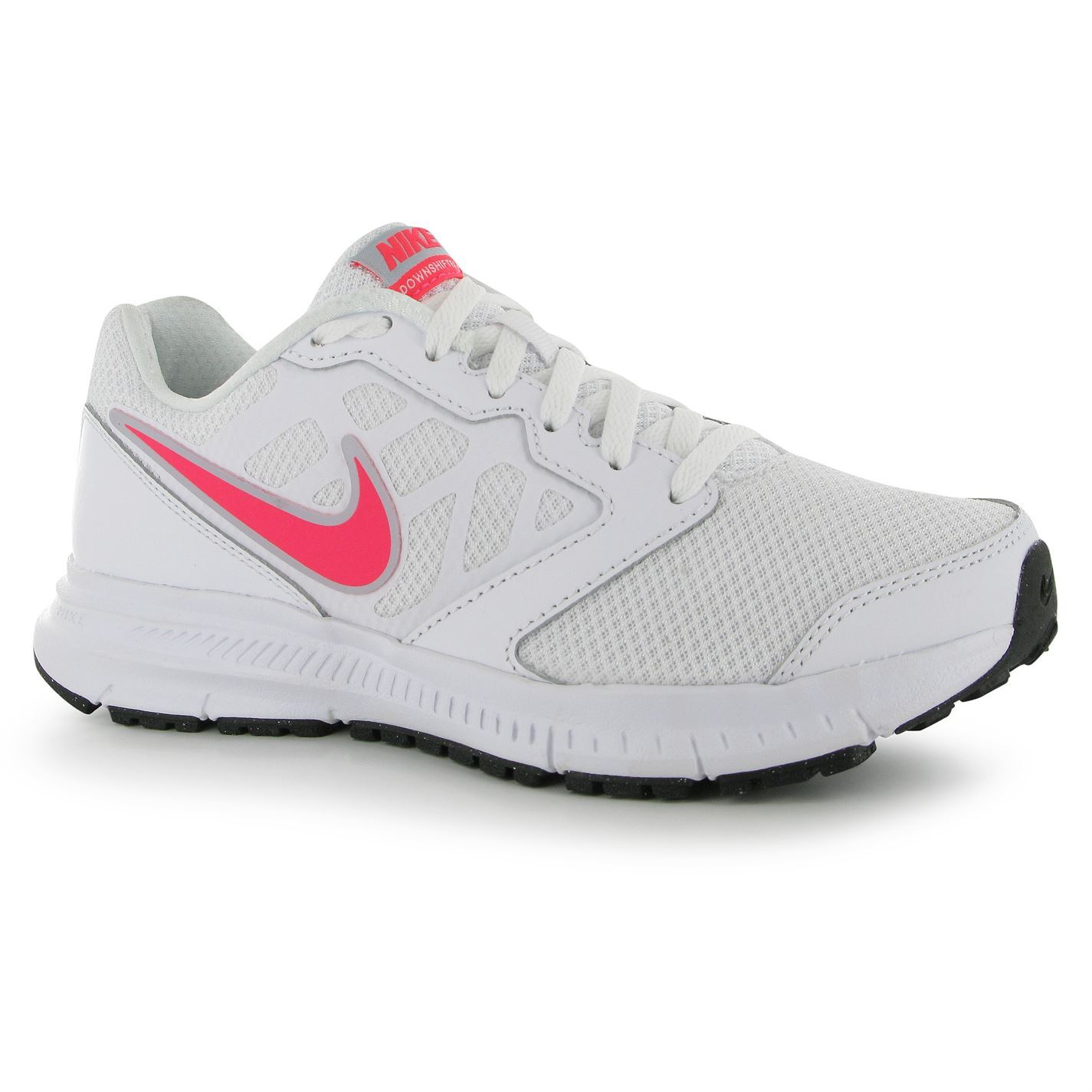 ... Nike Downshifter VI Running Shoes Trainers Womens White/Pink Jogging  Sneakers ...