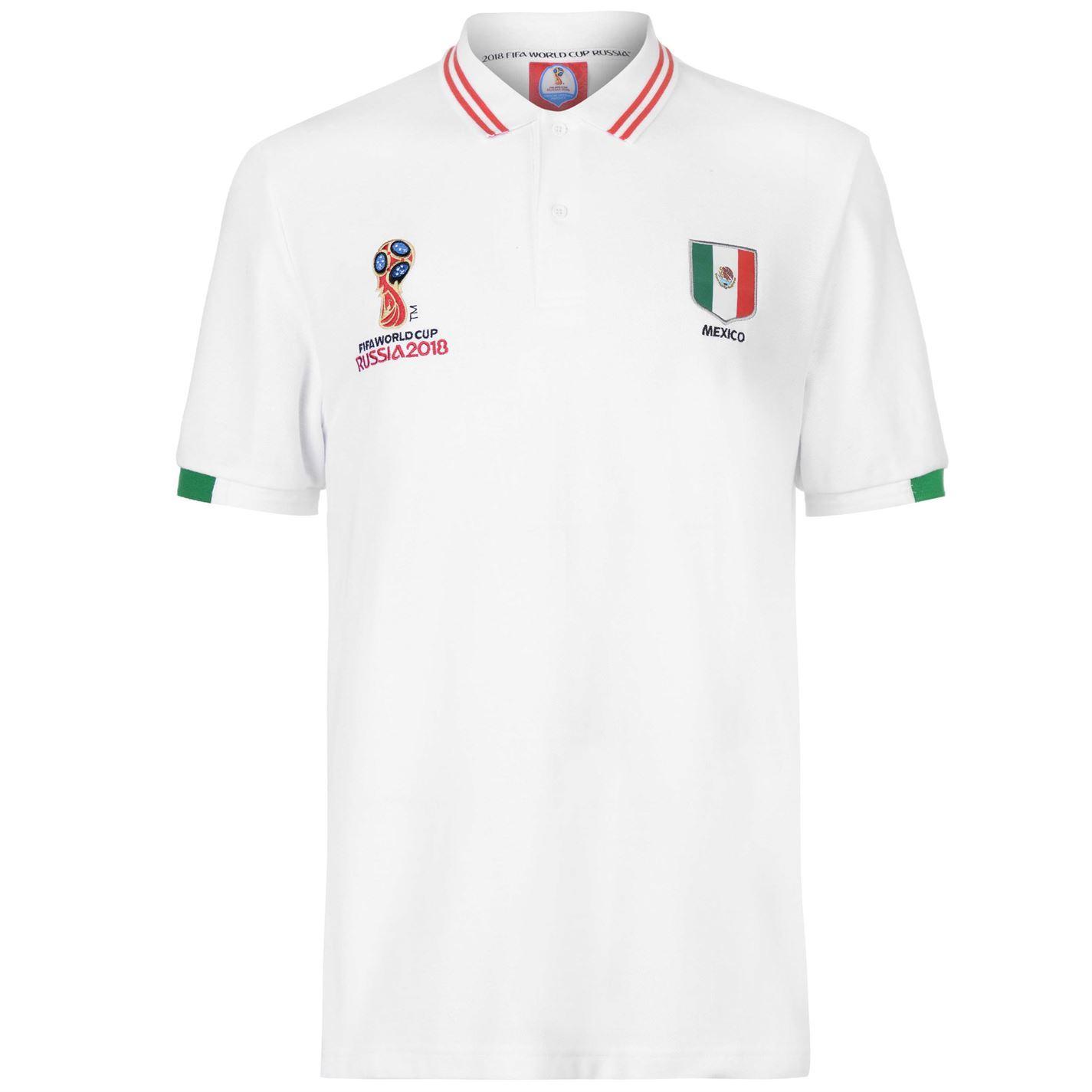 702dd7830 ... FIFA World Cup 2018 Mexico Polo Shirt Mens White Football Soccer Top T- Shirt ...