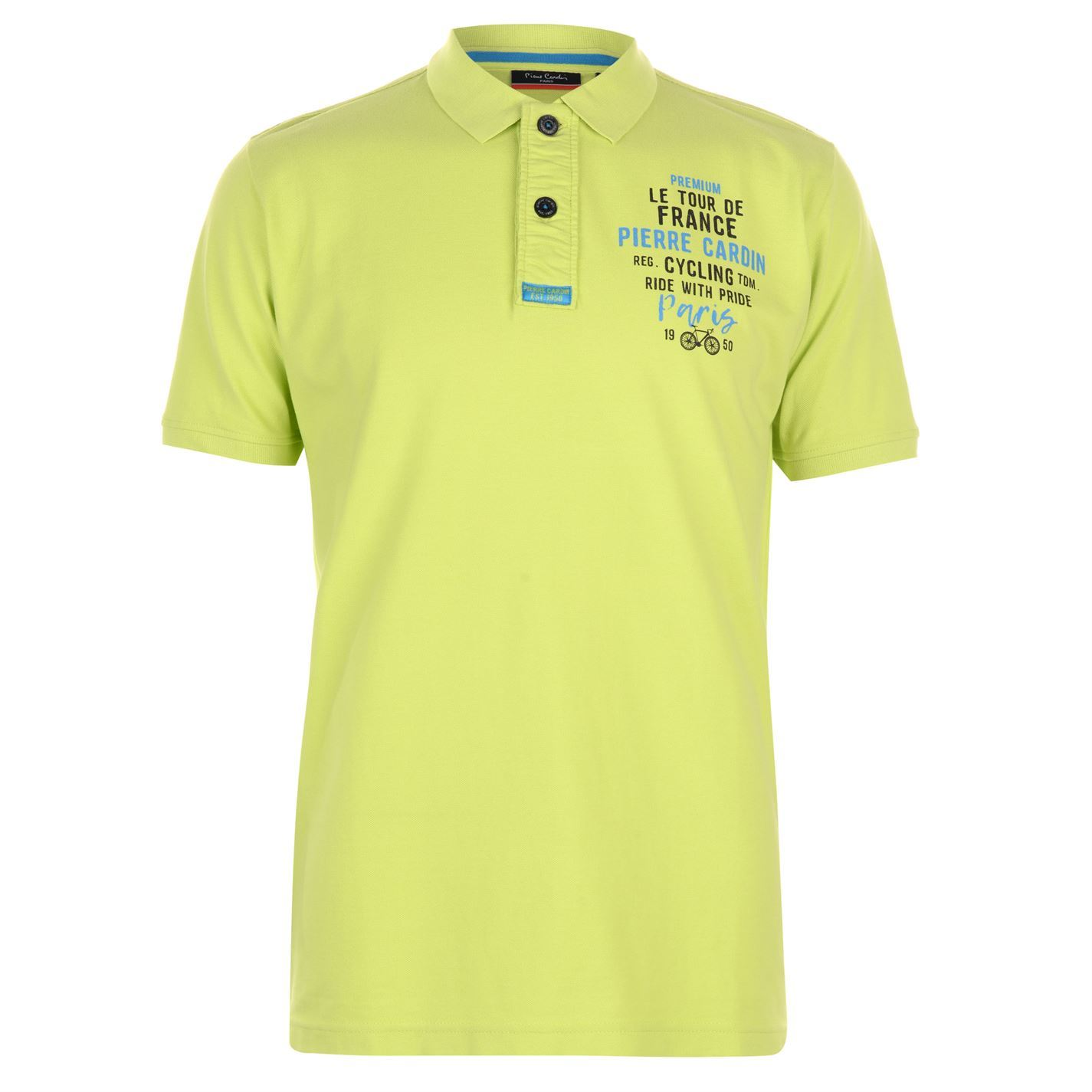6d7505a70 Pierre Cardin Cycling Ride With Pride Polo Shirt Mens Top Tee Casual T-Shirt