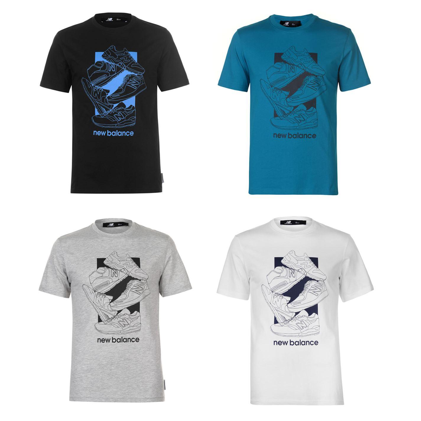 080c4629f Details about New Balance 5 Shoe QTT T-Shirt Mens Tee Shirt Top