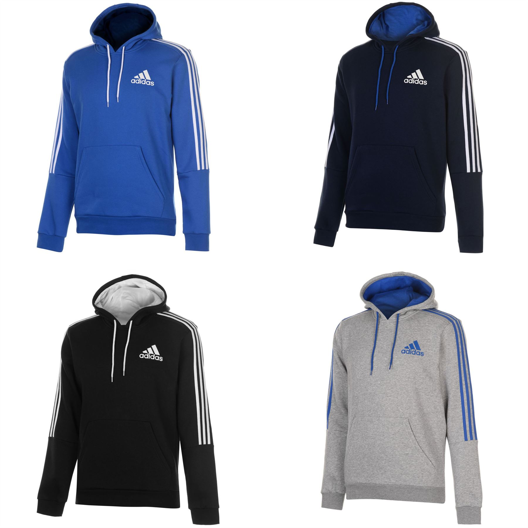 Details about adidas 3 Stripes Logo Pullover Hoody Mens Hoodie Sweatshirt  Sweater Hooded Top