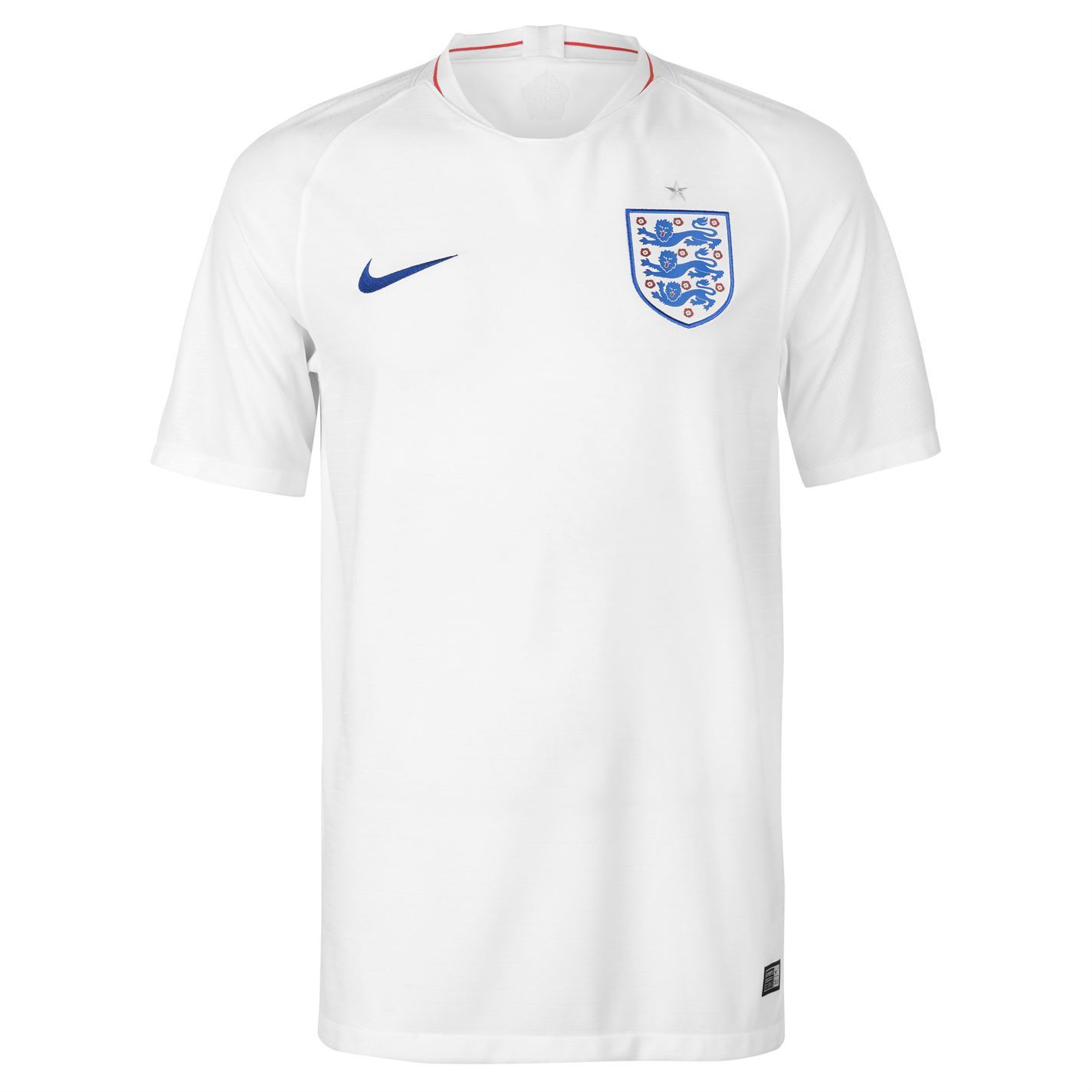 best service 7a978 4b3ba Details about Nike England Home Jersey 2018 Mens White/Royal Football  Soccer Top Shirt Strip
