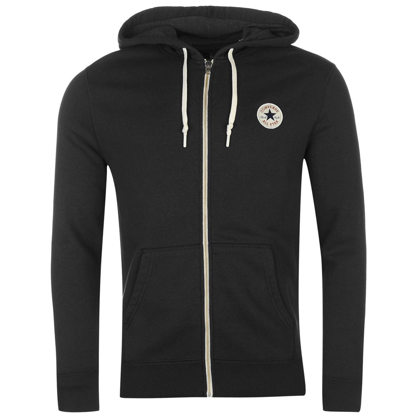 thumbnail 4 - Converse Core Full Zip Hoody Jacket Mens Hoodie Sweatshirt Sweater Hooded Top