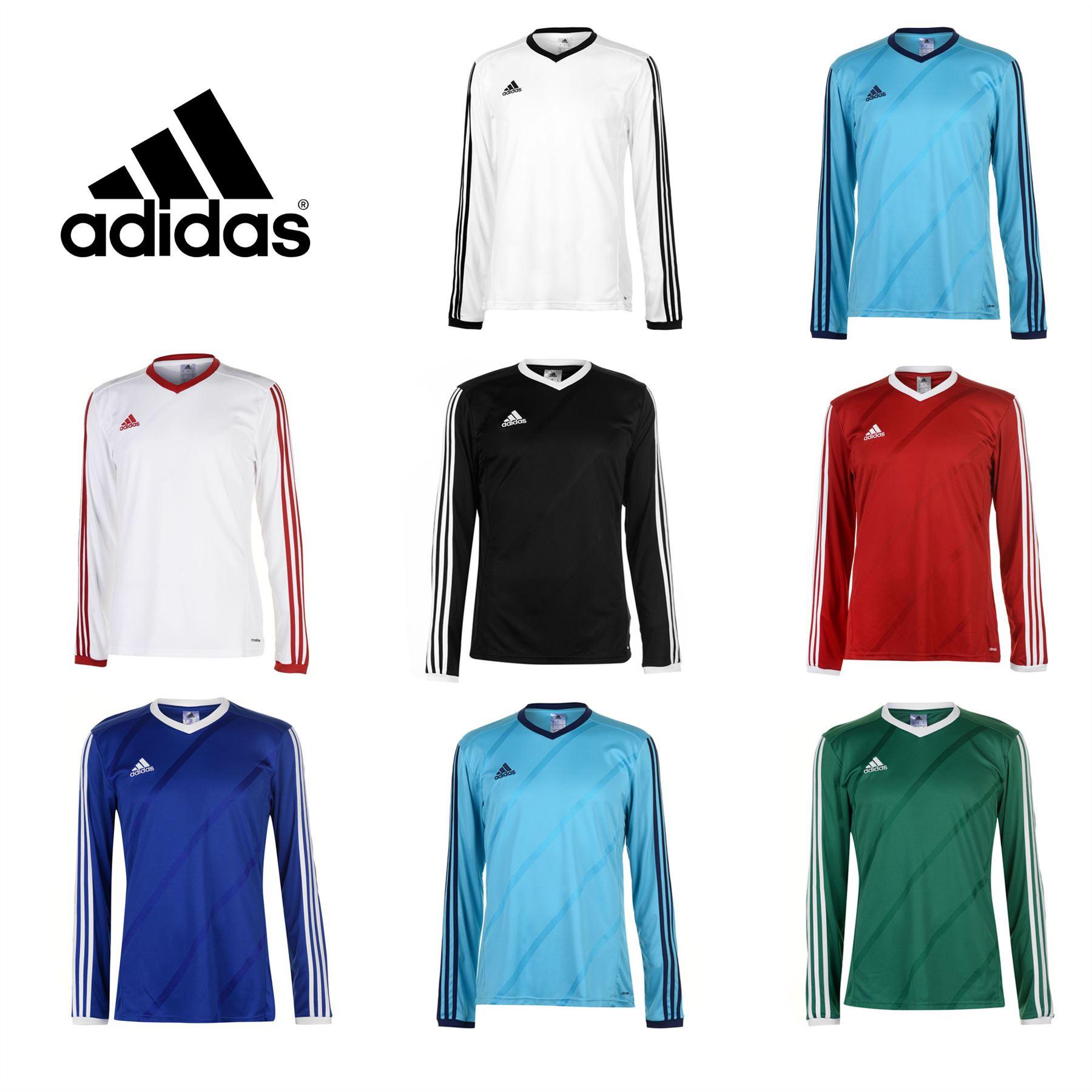 70e51262cfb adidas Tabela 14 Long Sleeve Football Jersey Mens Soccer Shirt Top T-Shirt