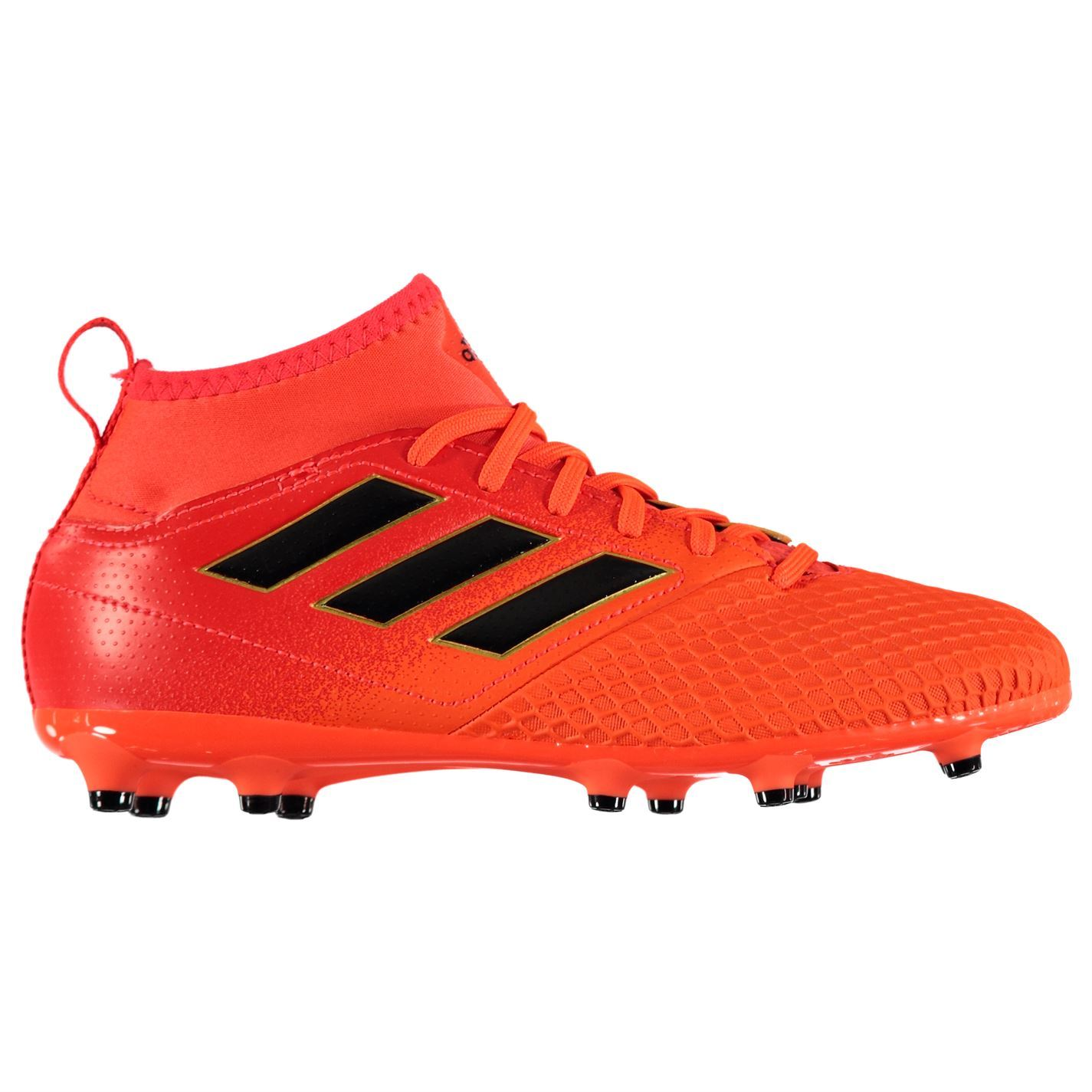 d82ab90f324b ... adidas Ace 17.3 Primemesh Firm Ground Football Boots Juniors Orange  Soccer Shoes ...