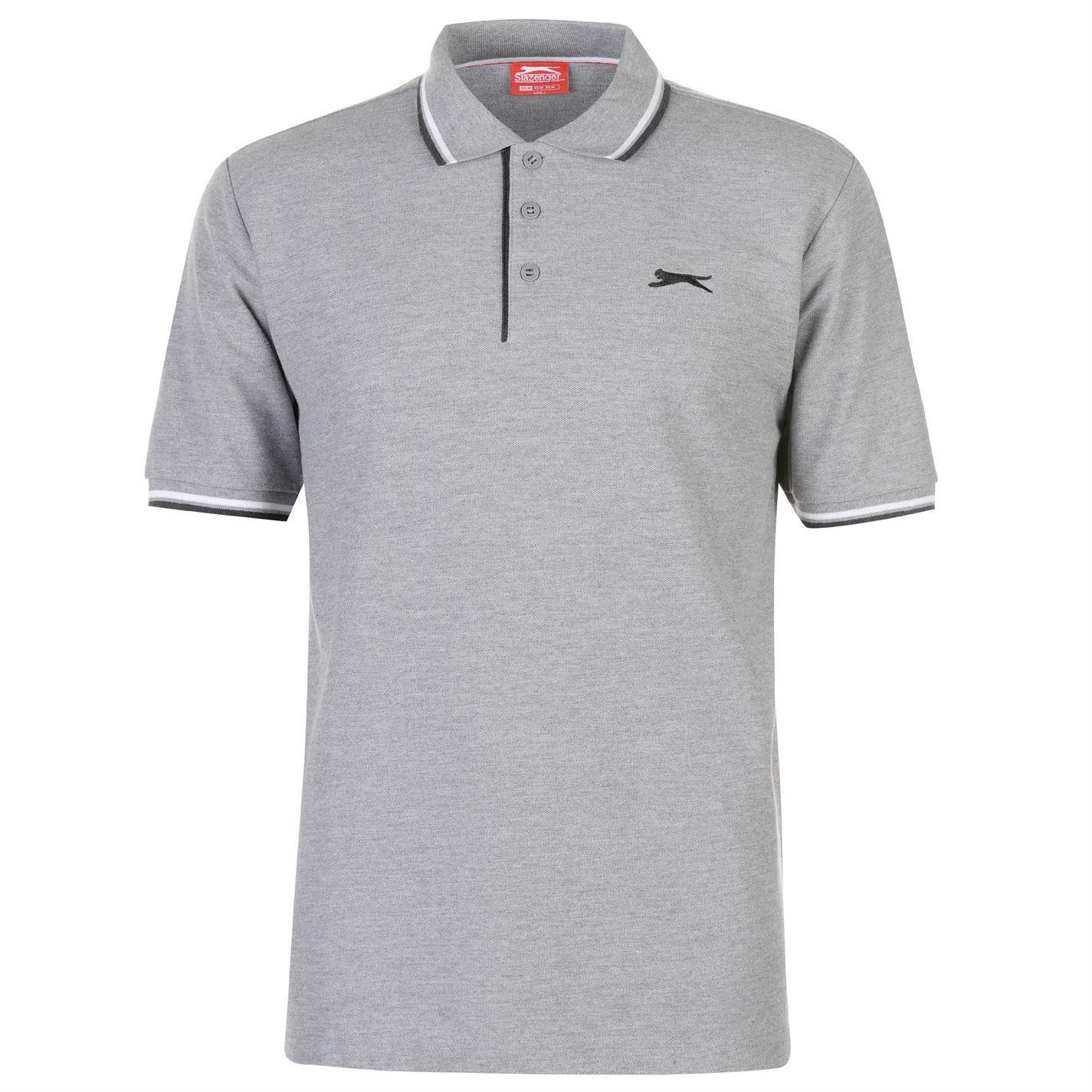 Slazenger-Polo-Camisa-de-hombre-con-cuello-con-Punta-T-Shirt-Top-Camiseta-Tee miniatura 35