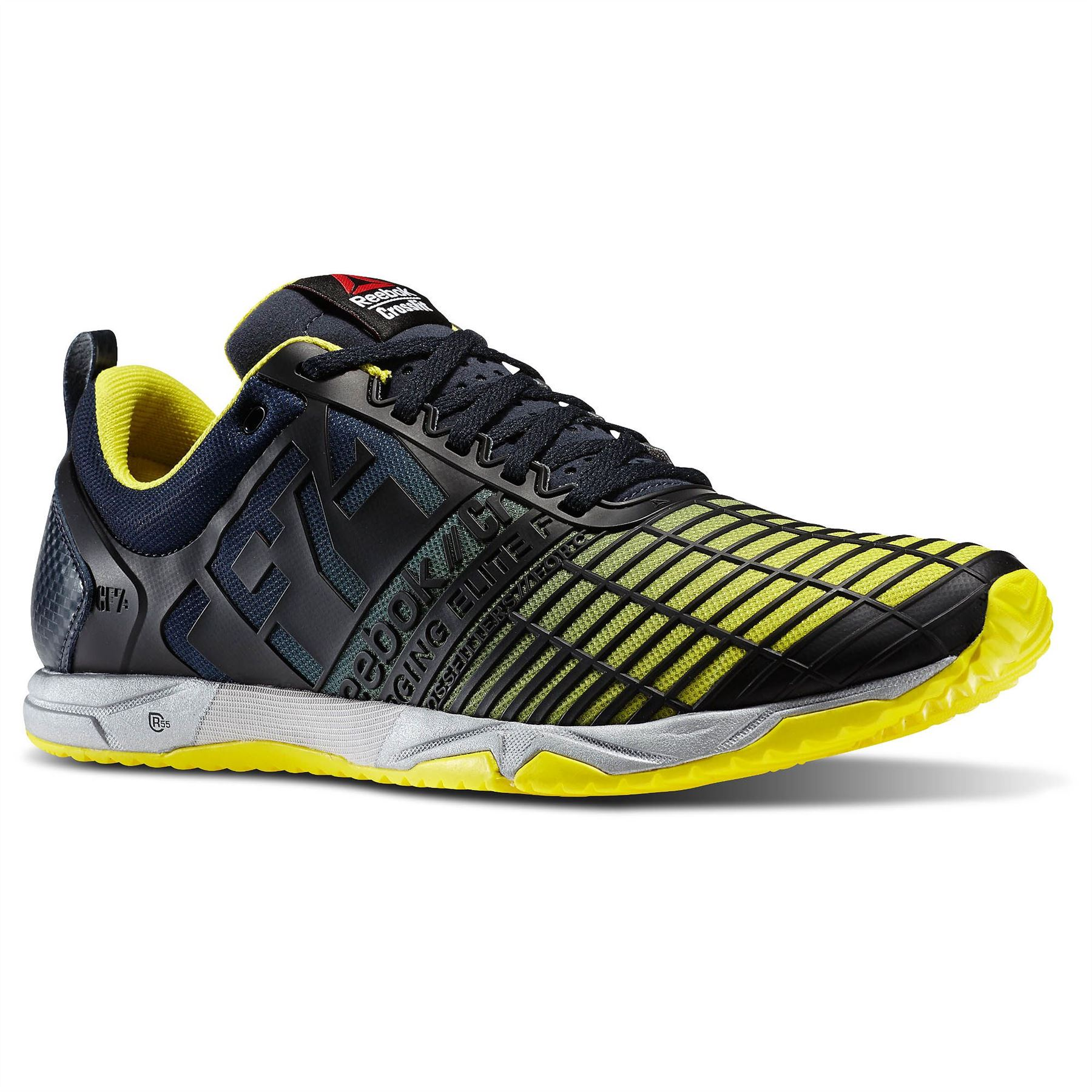 7290c365062 Details about Reebok Crossfit Sprint TR Training Shoes Mens Navy Yellow Gym  Trainers Sneakers