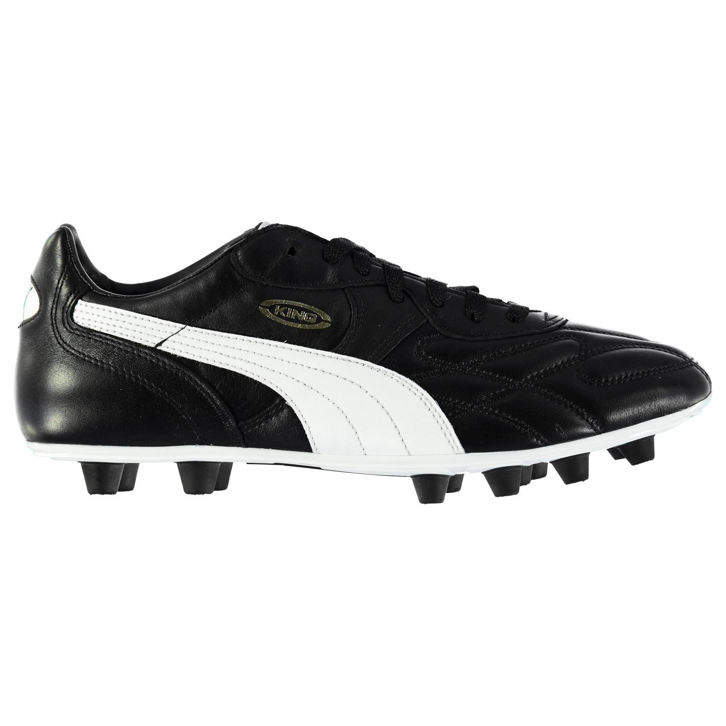 4e3143a9e8e724 ... Puma King Top di FG Firm Ground Football Boots Mens Black Soccer Shoes  Cleats ...