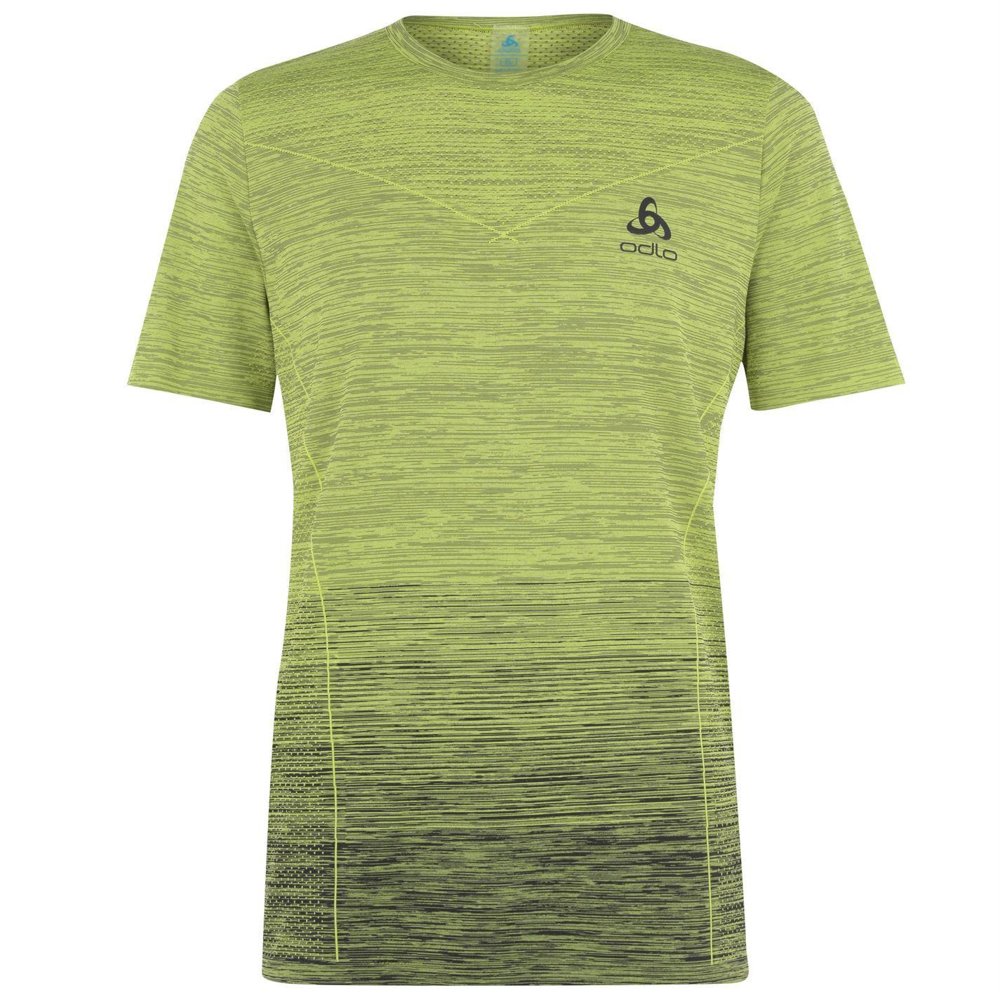 Details zu Odlo Kamile Crew Neck Running T Shirt Mens Lime Fitness Top Tee Shirt X Large