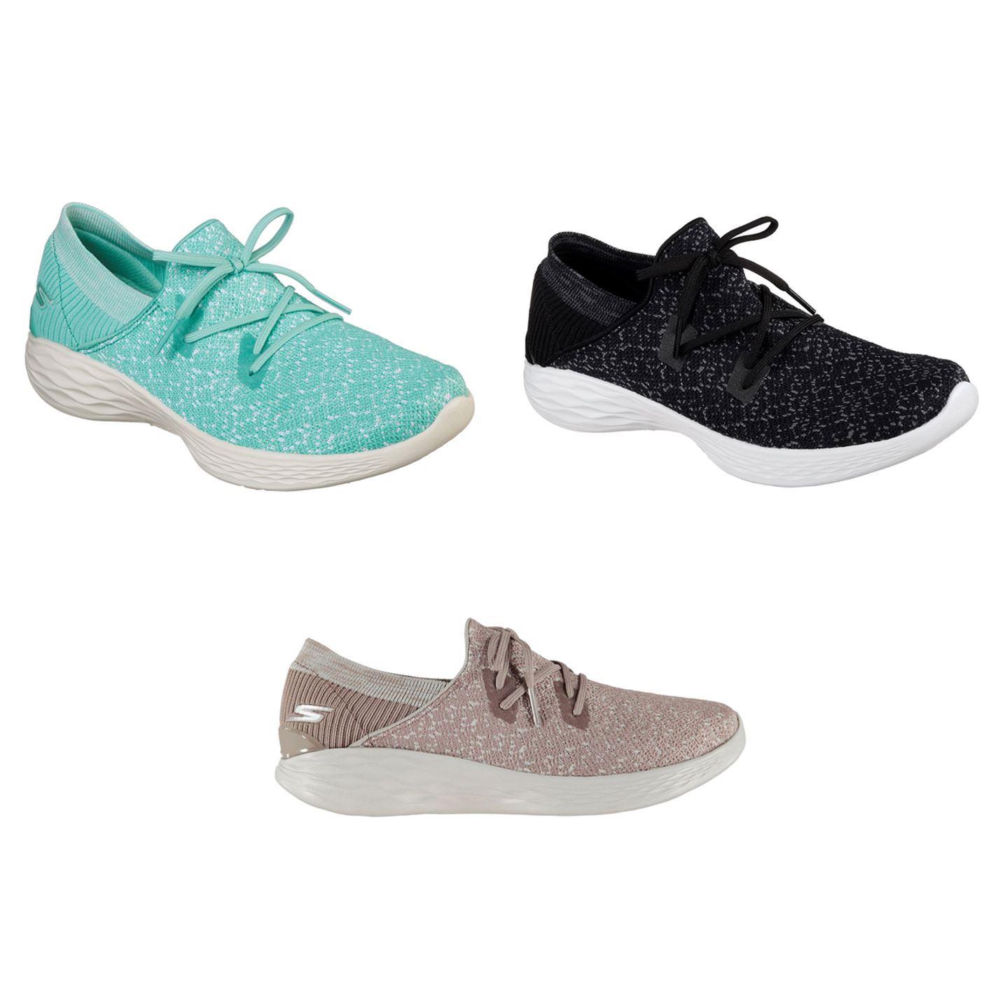 Skechers YOU Exhale Trainers Ladies Shoes Mauve Sports