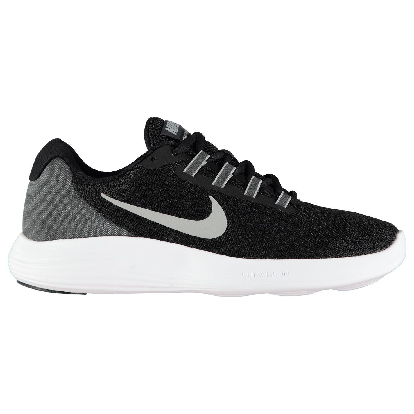 Nike Lunar Converge Trainers Mens Black/Silver Athletic Sneakers Shoes