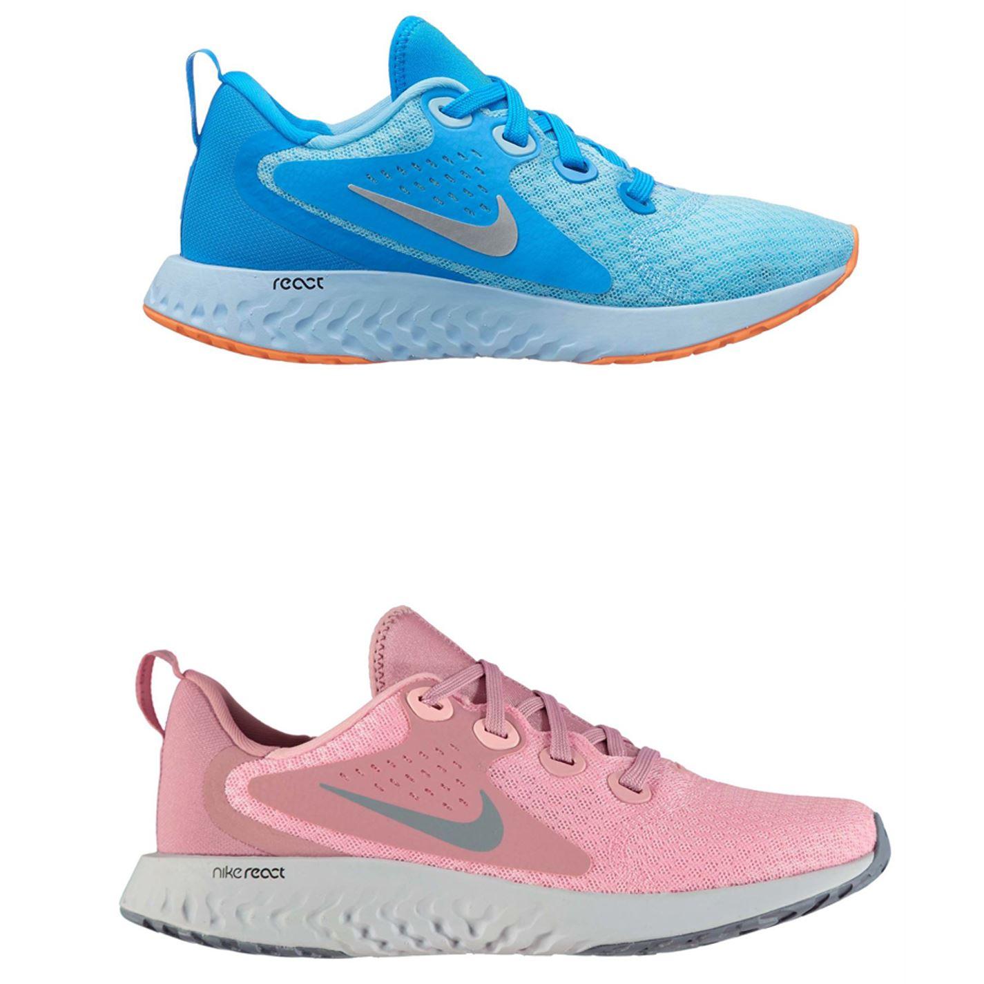 ded9aab69cf00 ... Nike Rebel React Trainers Junior Girls Shoes Footwear ...