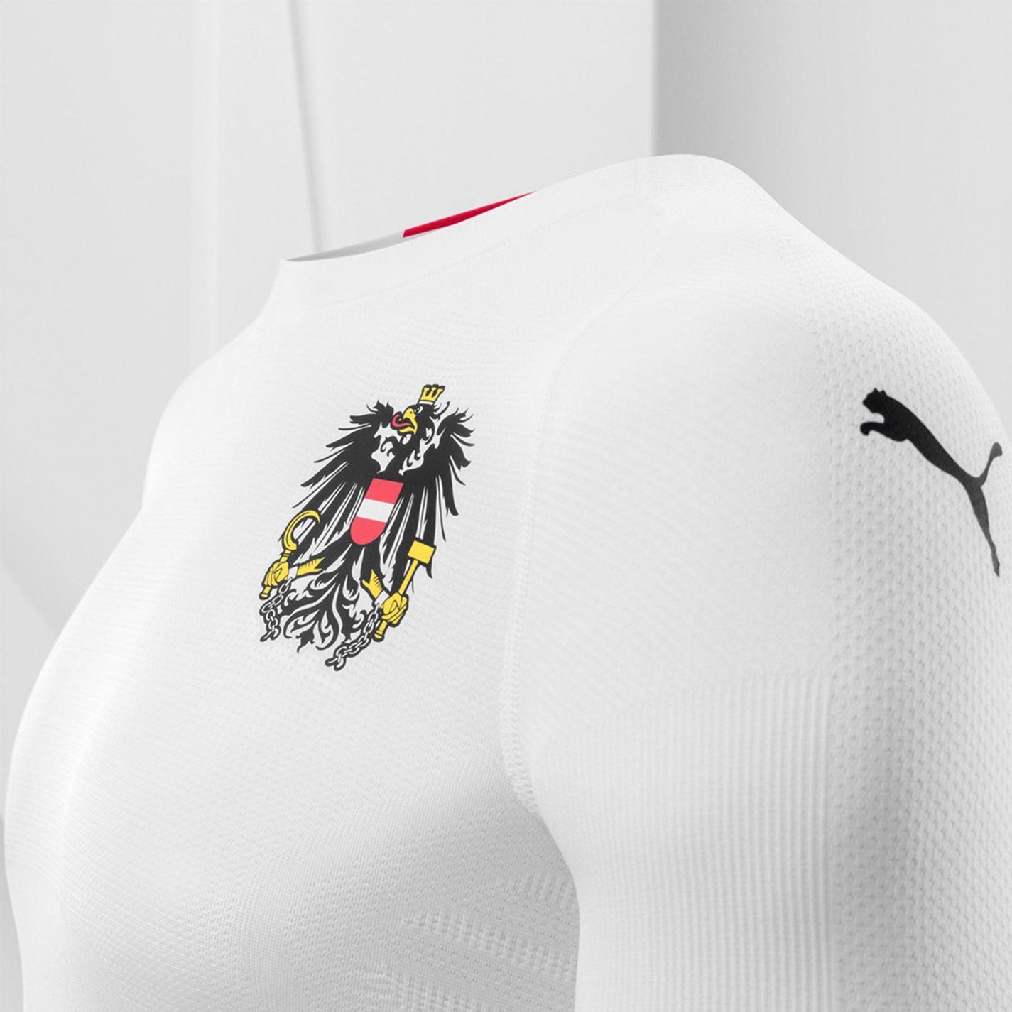 ... Puma Austria Away Jersey 2018 Mens White Football Soccer Fan Shirt Top 668ba66ba