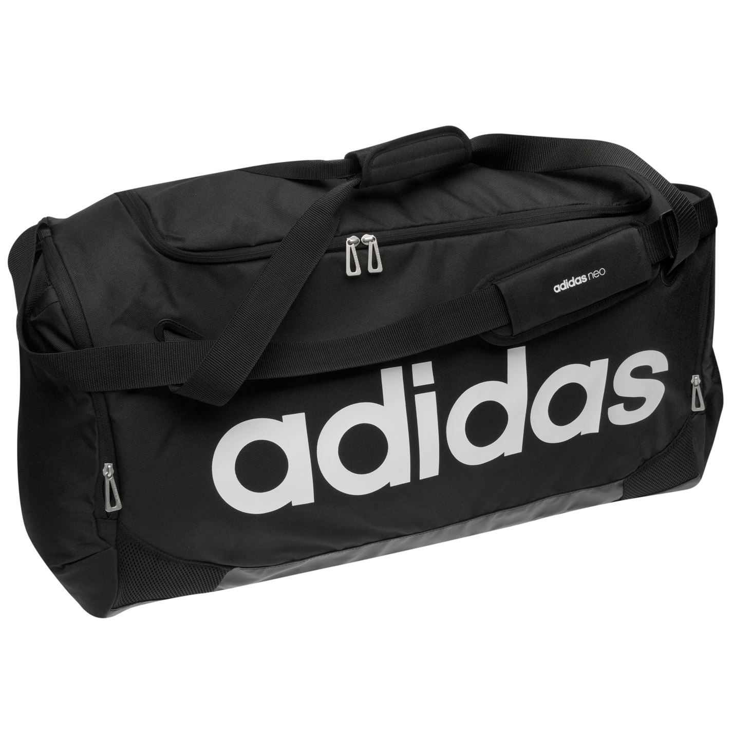 4604cfa7 Details about Adidas Linear Team Bag Large Black Sports Gymbag Kitbag