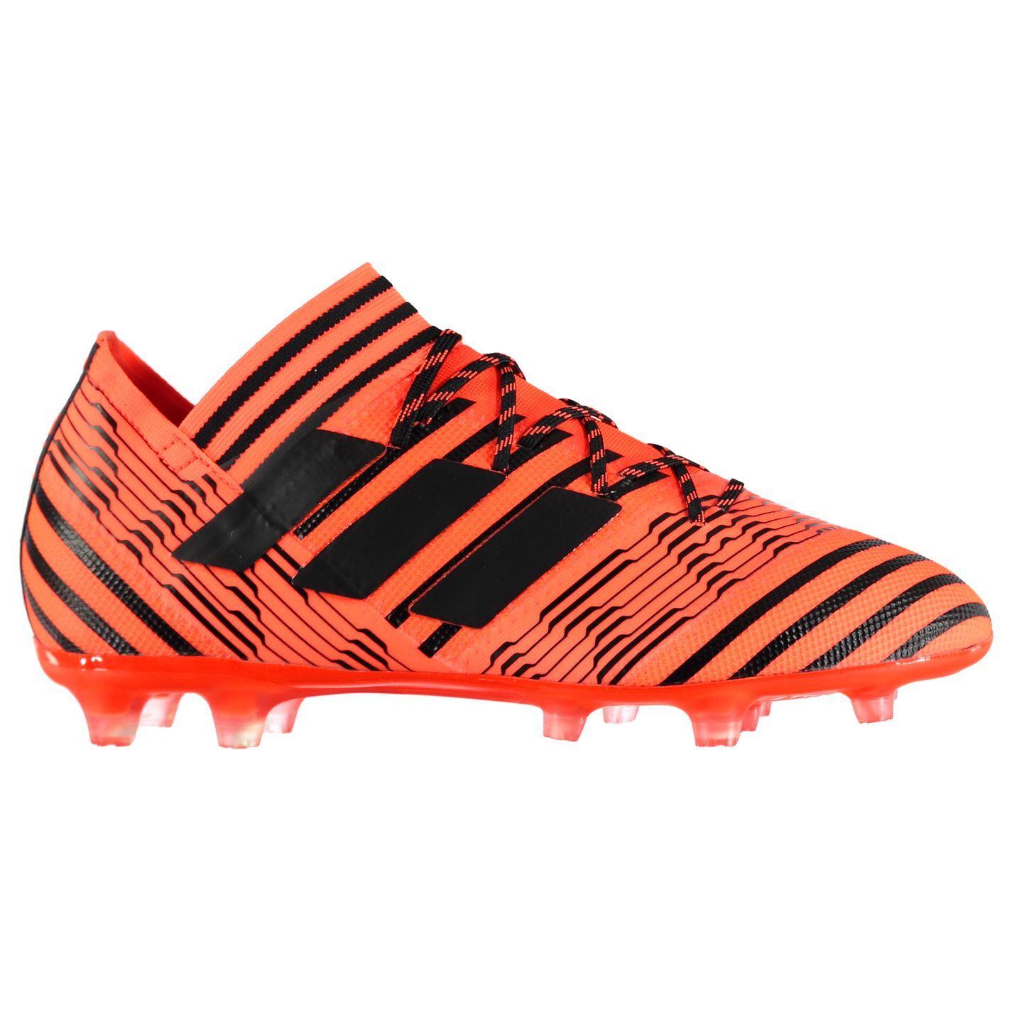 ccb5b41c48b adidas Nemeziz 17.2 Firm Ground Football Boots Mens Orange Black Soccer  Cleats