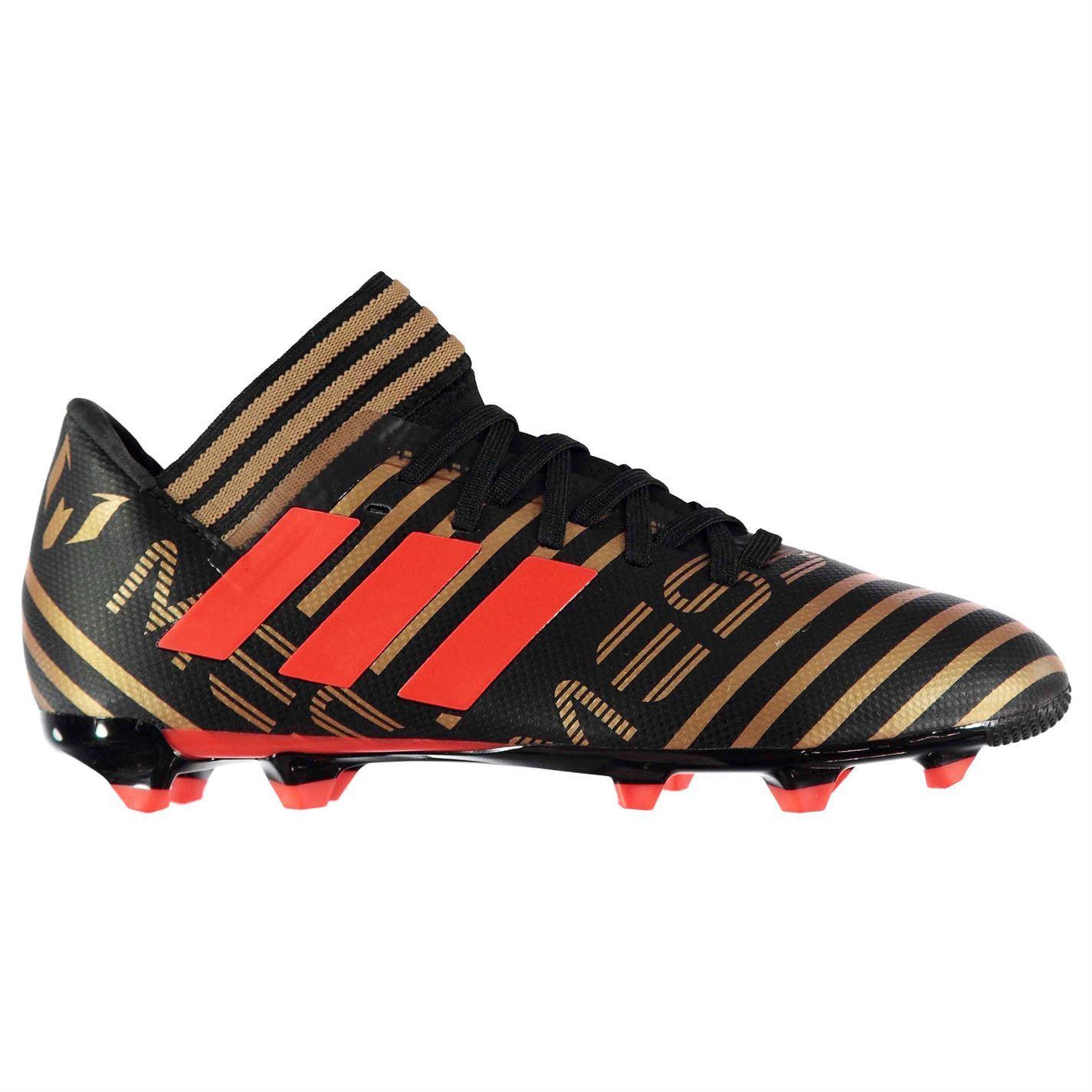 quality design 166cd d122e ... Adidas Nemeziz Messi 1 7.3 Firm Ground Football bottes Juniors noir  Soccer crampons ...