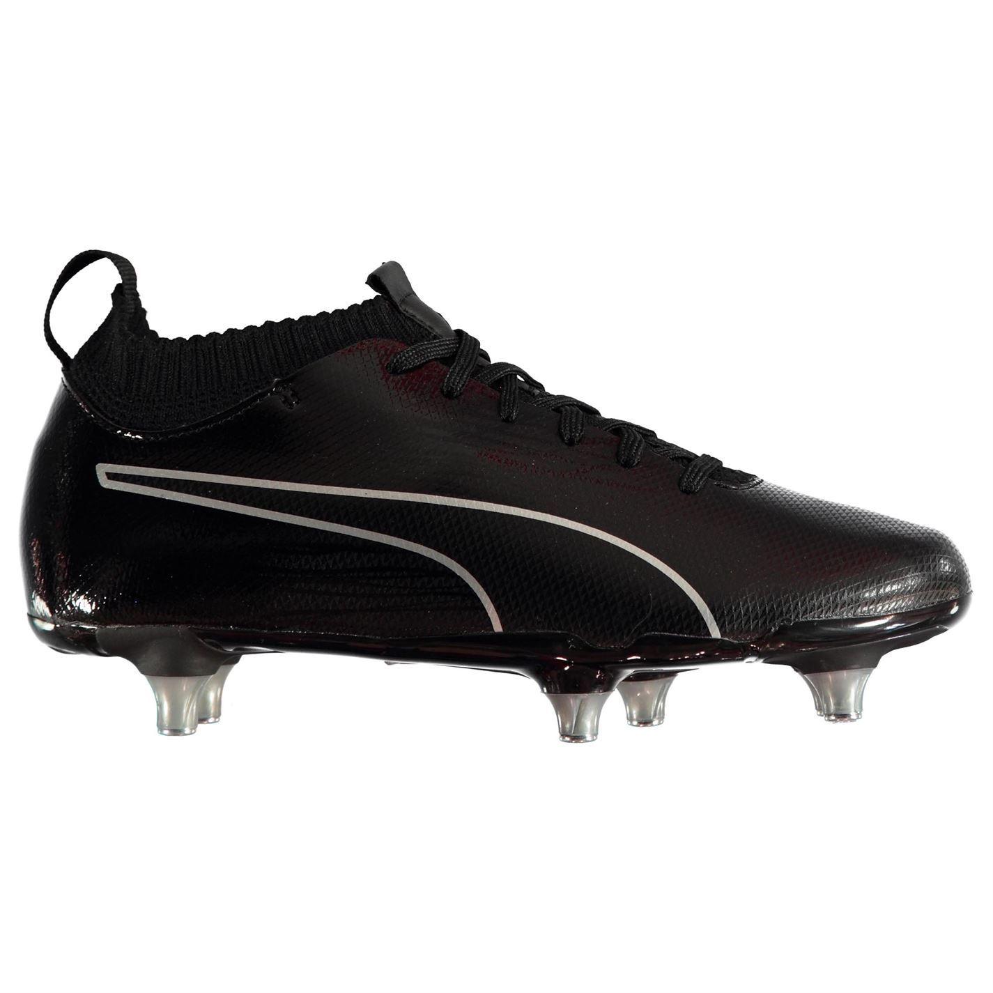 Football enfant PUMA Puma Evoknit FG Chaussures de football pour chaussures de football pour enfants Tige ferme Blanc noir