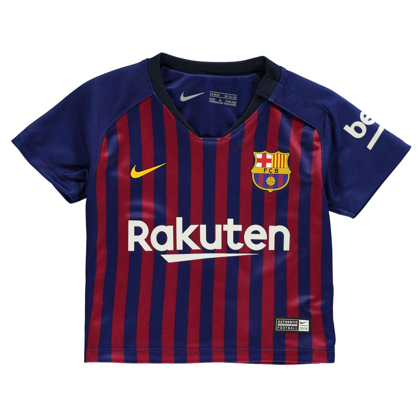 4c2470de17f Details about Nike Barcelona Home Baby Kit 2018 2019 Infants Blue Football  Soccer Strip