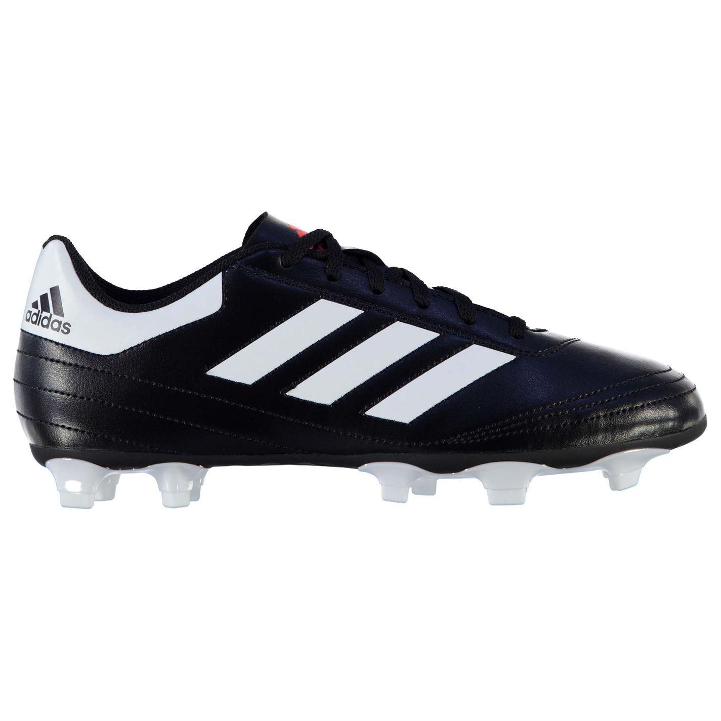 Dettagli su Adidas Goletto Fg Firm Scarpe da Calcio Uomo NeroBianco Calcio Tacchetti Scarpe