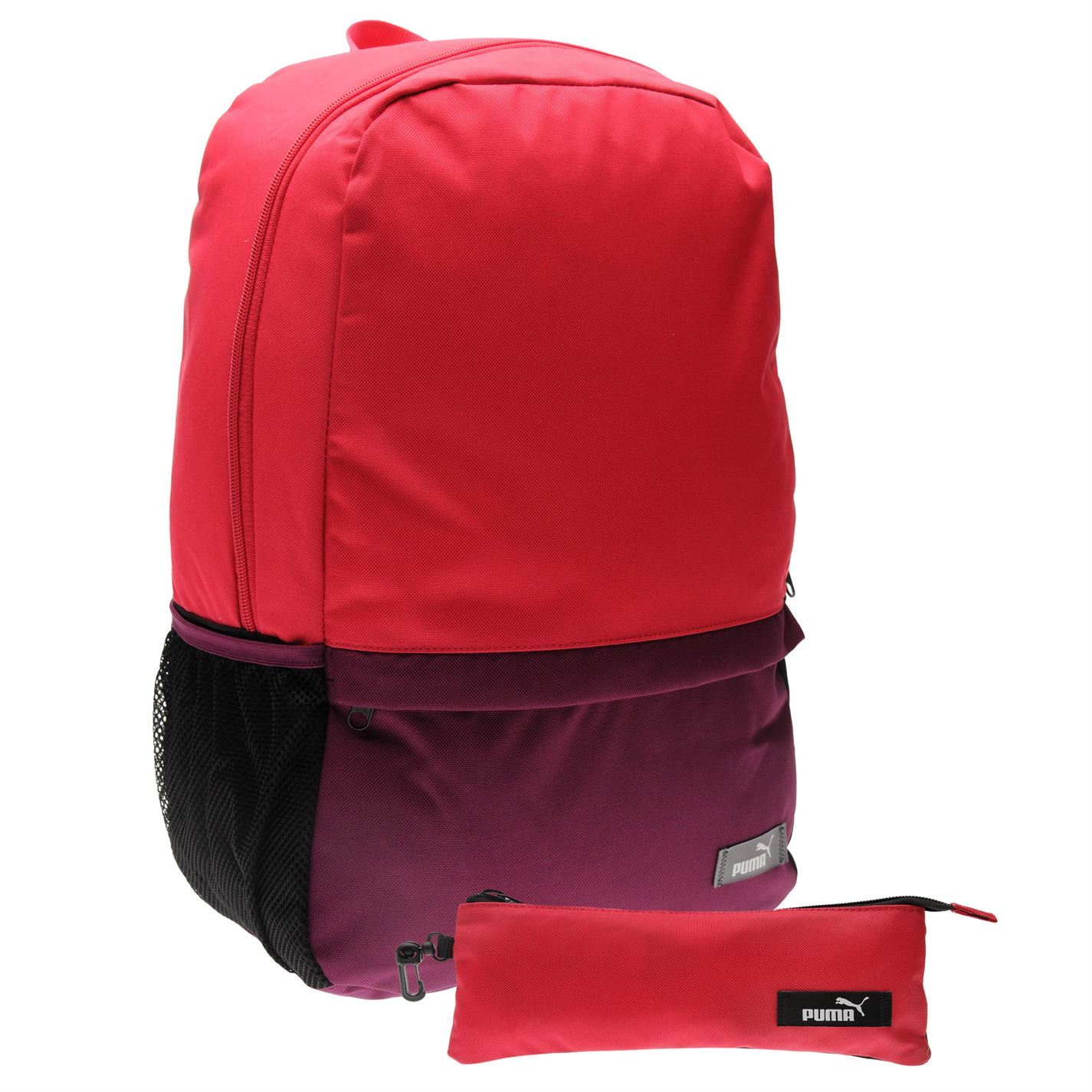d3aef9401059 ... Puma Back To School Backpack with Pencil Case Purple School Bag Holdall  Rucksack ...