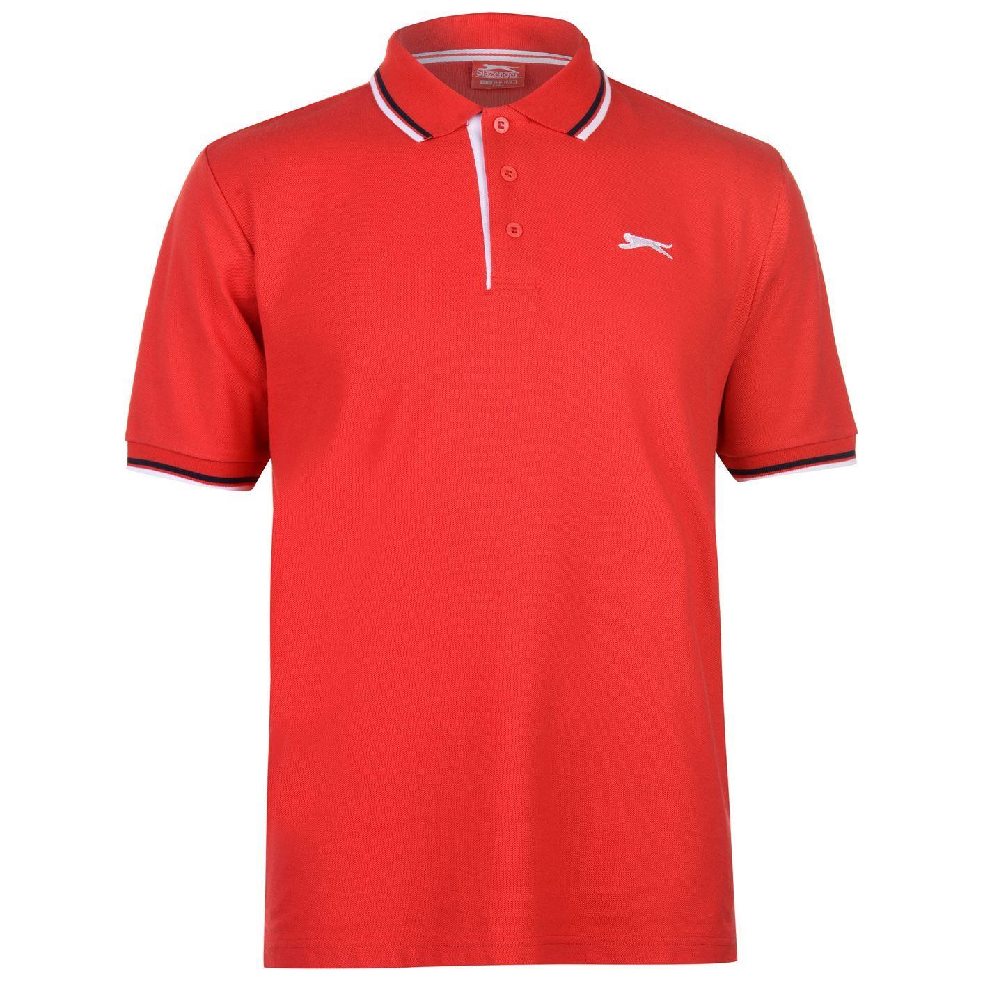 Slazenger-Polo-Camisa-de-hombre-con-cuello-con-Punta-T-Shirt-Top-Camiseta-Tee miniatura 33