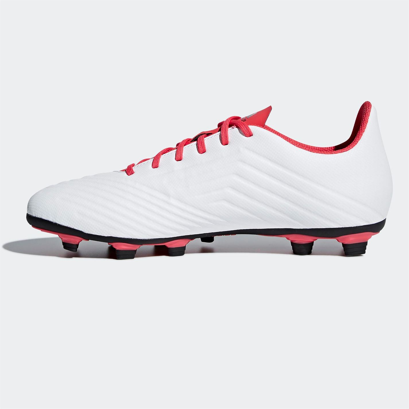 01b0ad3fb ... adidas Predator 18.4 Firm Ground Football Boots Mens White Red Soccer  Cleats