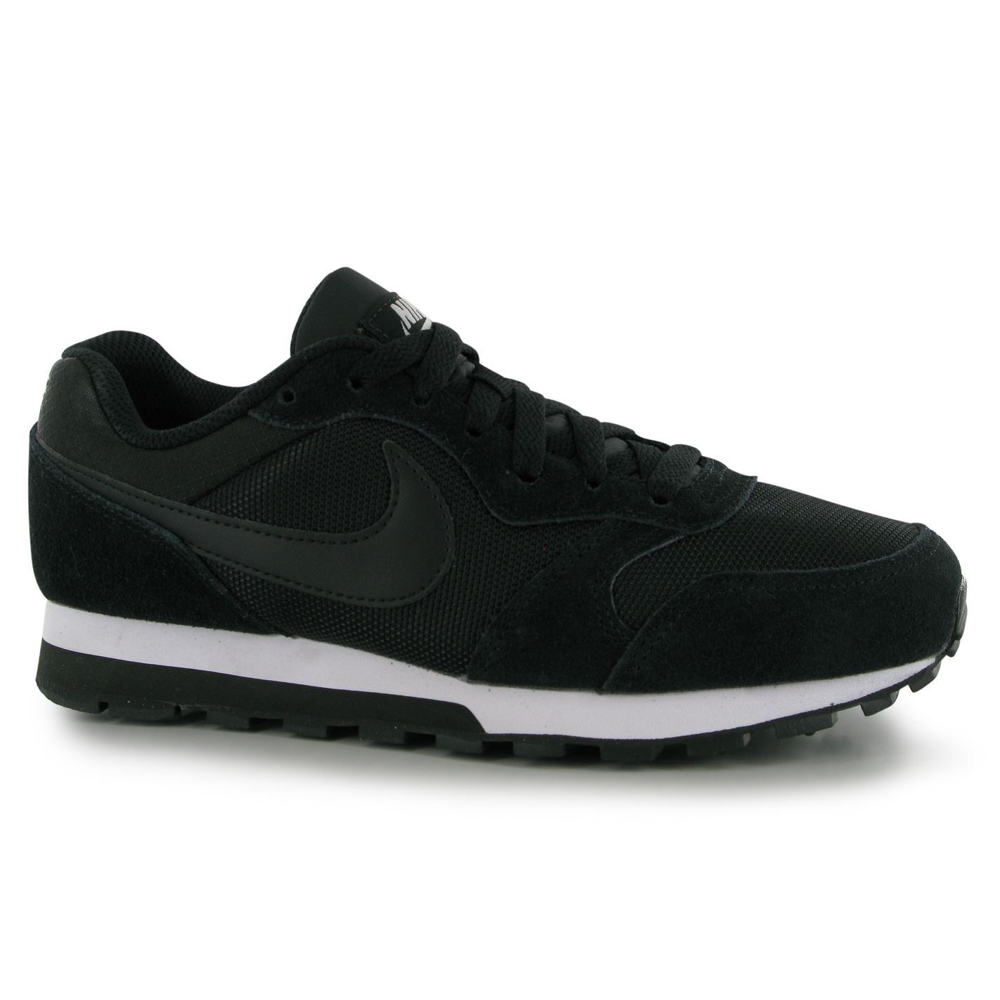 f8426b71932e Details about Nike MD Runner Trainers Womens Black White Casual Fashion  Sneakers Shoes
