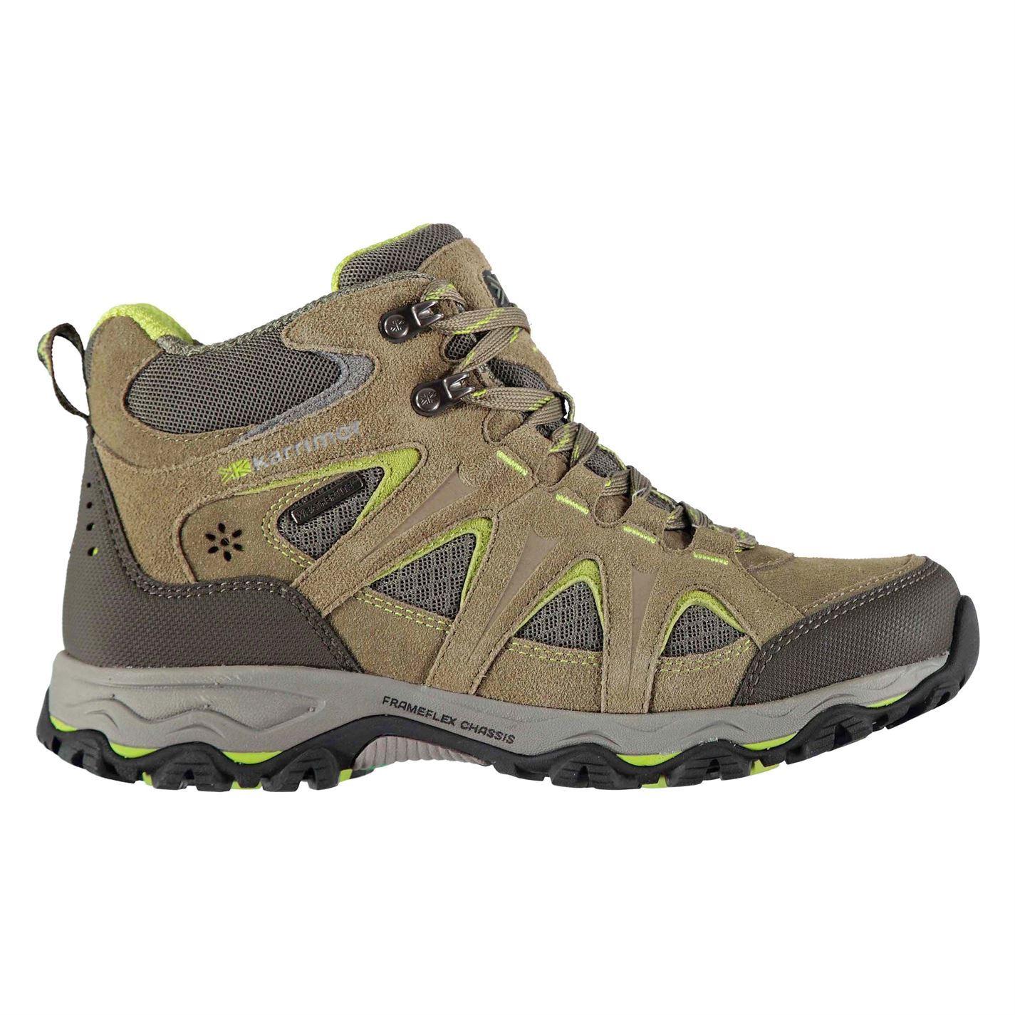 Details about Karrimor Mountain WeatherTite Mid Walking Boots Womens Hiking Trekking Shoes