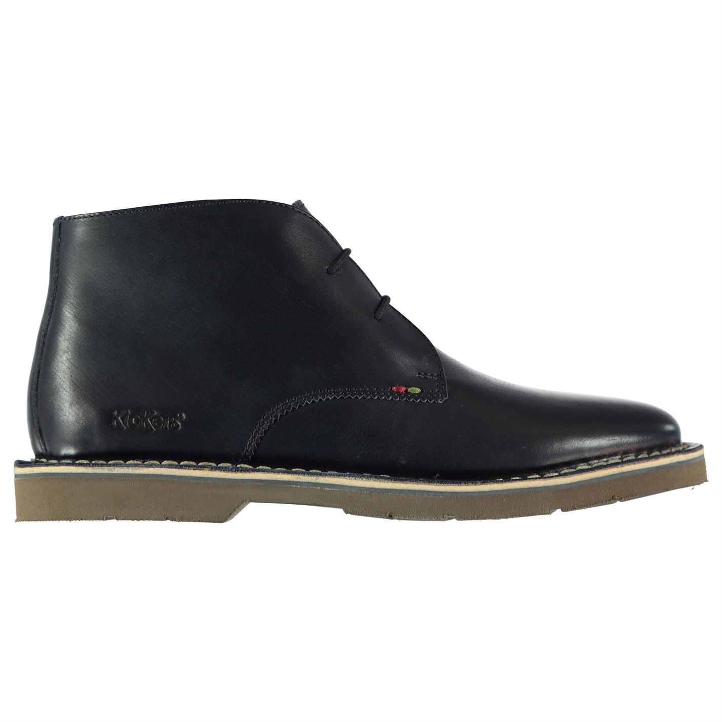 Details about Kickers Kanning Plus Mid Top Shoe Mens Navy Blue Lace Up Formal Footwear