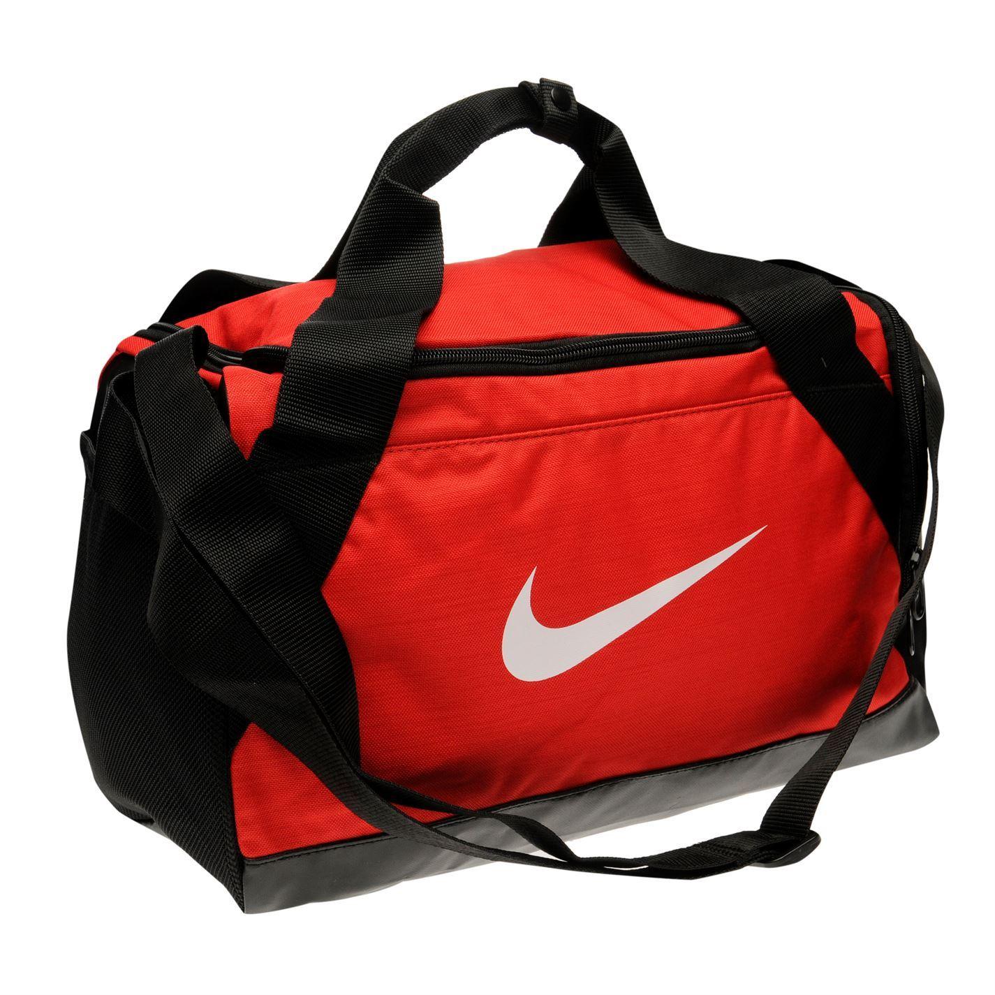 d34f02e2e33 Nike Brasilia XS Grip Sports Holdall Red Gym Kit Bag Carryall   eBay