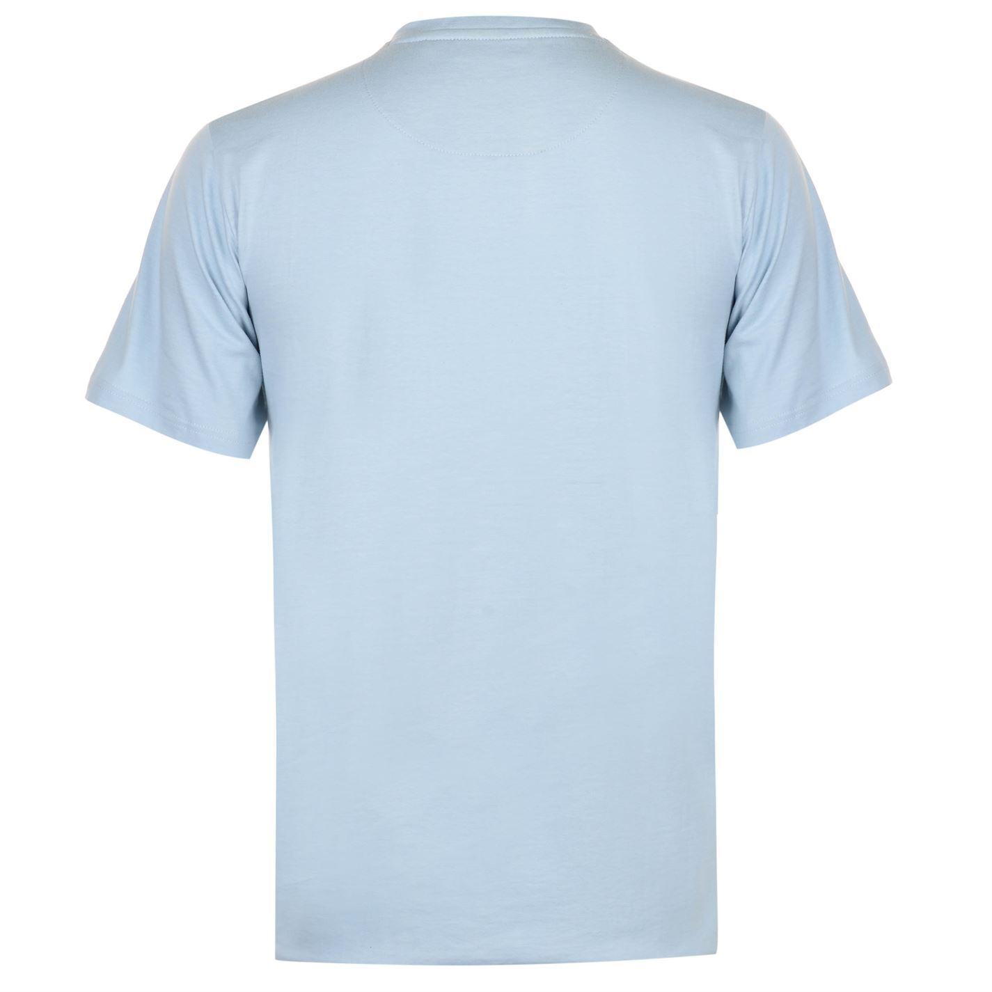 05b21faf Pierre Cardin Contrast Henley T-Shirt Mens Blue Tee Shirt Tshirt Top ...
