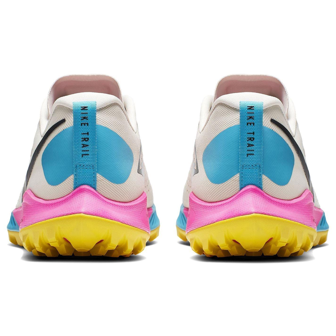 Detalles de Nike Aire Zoom Terra Kiger 5 Zapatillas Trail Running Blanco Azul Rosa
