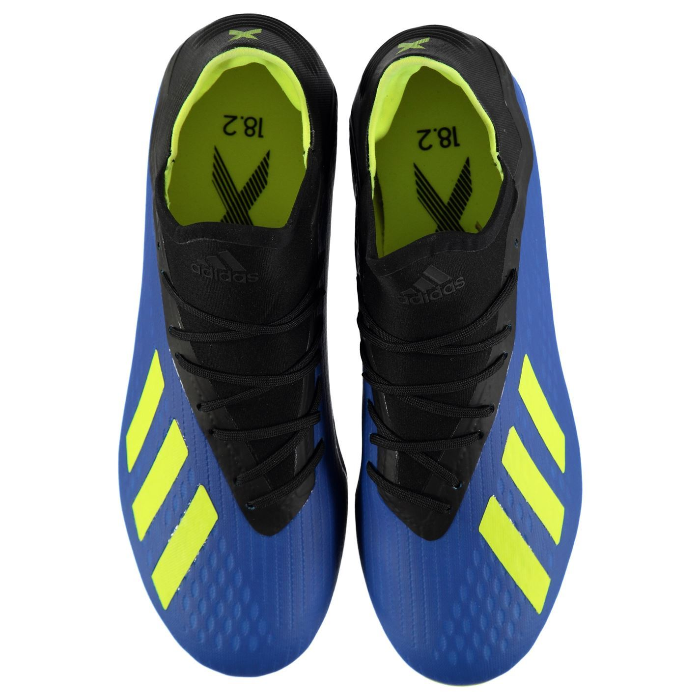f03cb0a499be8 adidas X 18.2 FG Firm Ground Football Boots Mens Blue Soccer Shoes Cleats