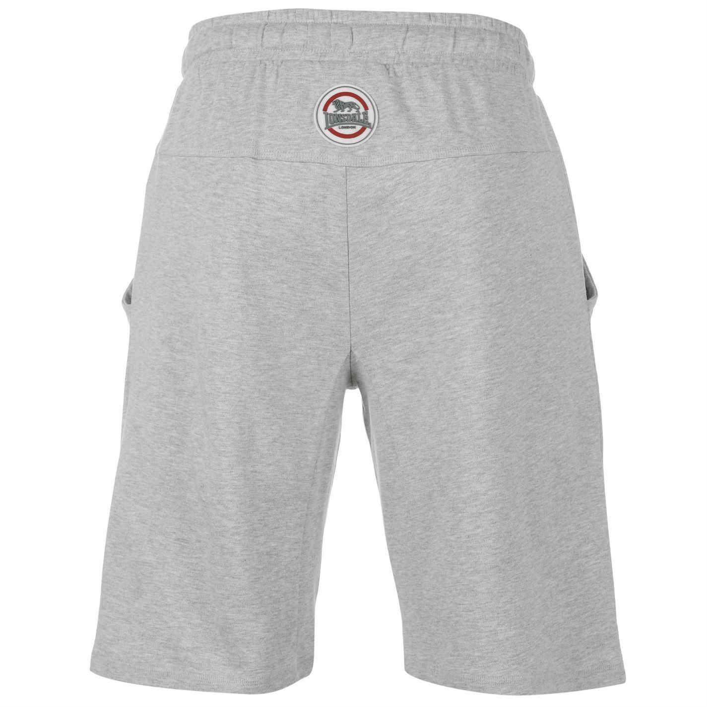 45664305c9 ... Lonsdale Lightweight Sweat Shorts Mens Grey Sportswear Short Boxing MMA