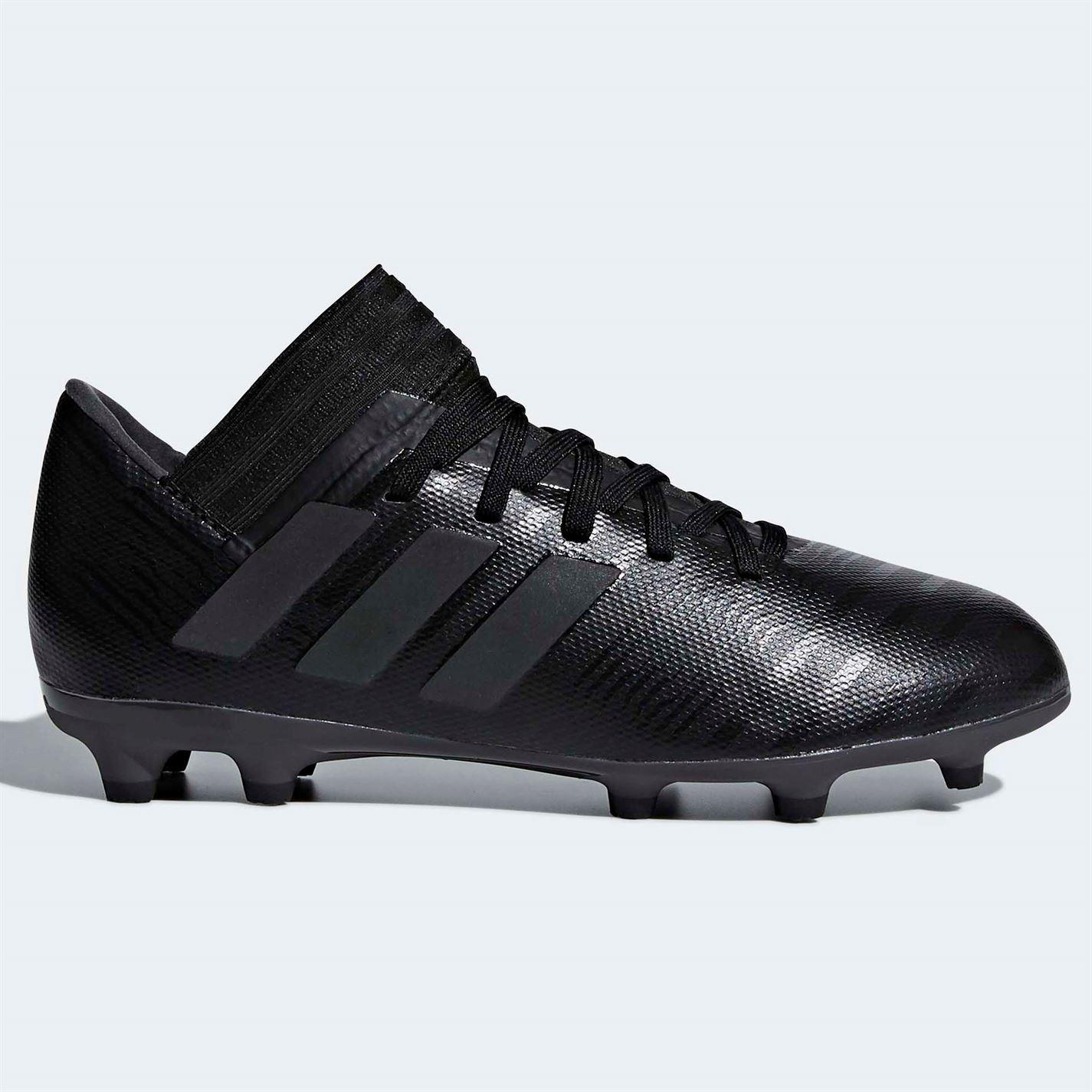 9bc2222ddee Details about adidas Nemeziz 17.3 Firm Ground FG Football Boots Childs  Black Soccer Cleats
